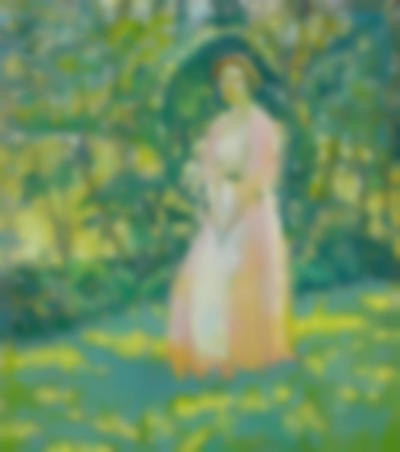 Lawton Silas Parker - Lady In A Garden-