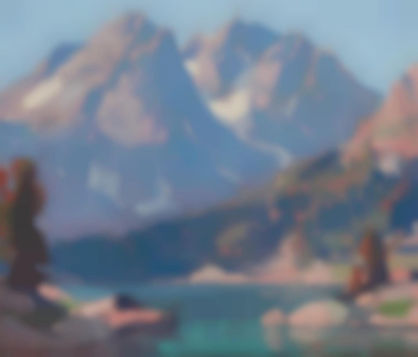 Edgar Payne - Teton Peaks-