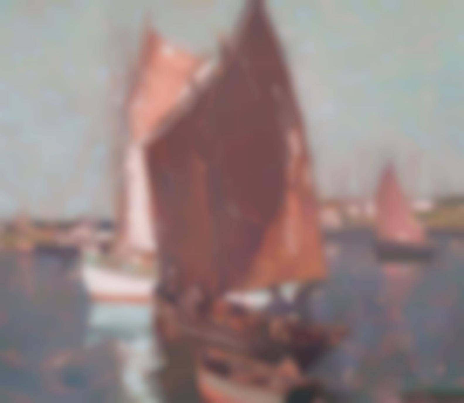 Edgar Payne - Brittany Fishing Boats-