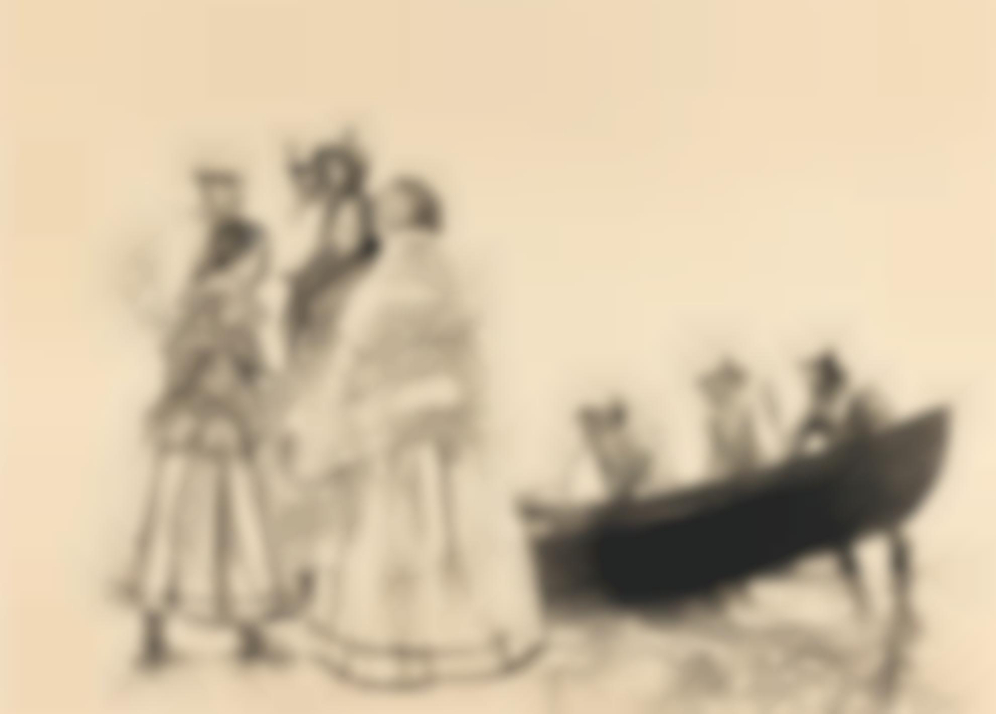 Sean Keating P.R.H.A. - Boatmen Of The Aran Islands-