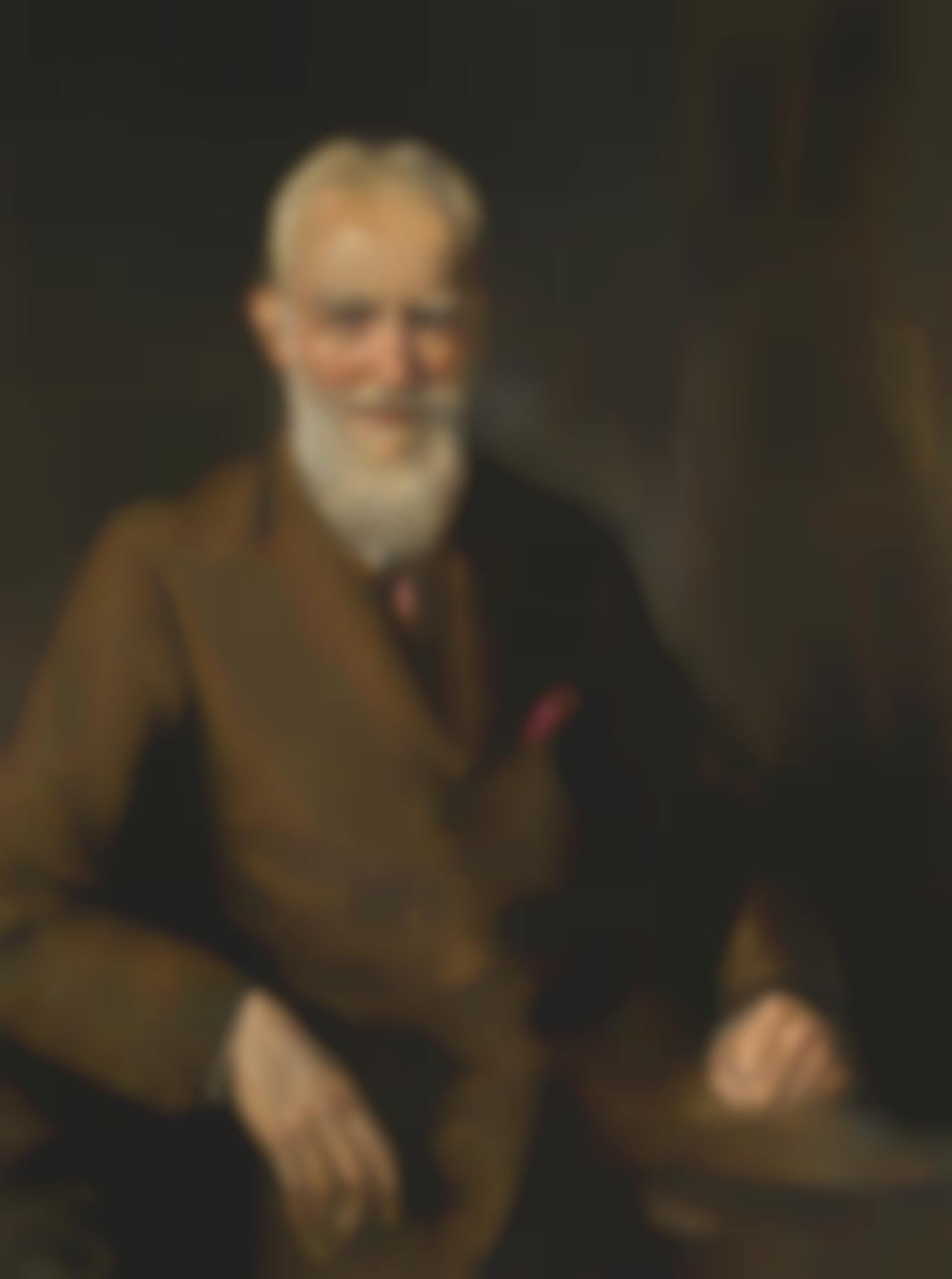Sir John Lavery - Portrait Of George Bernard Shaw-1929