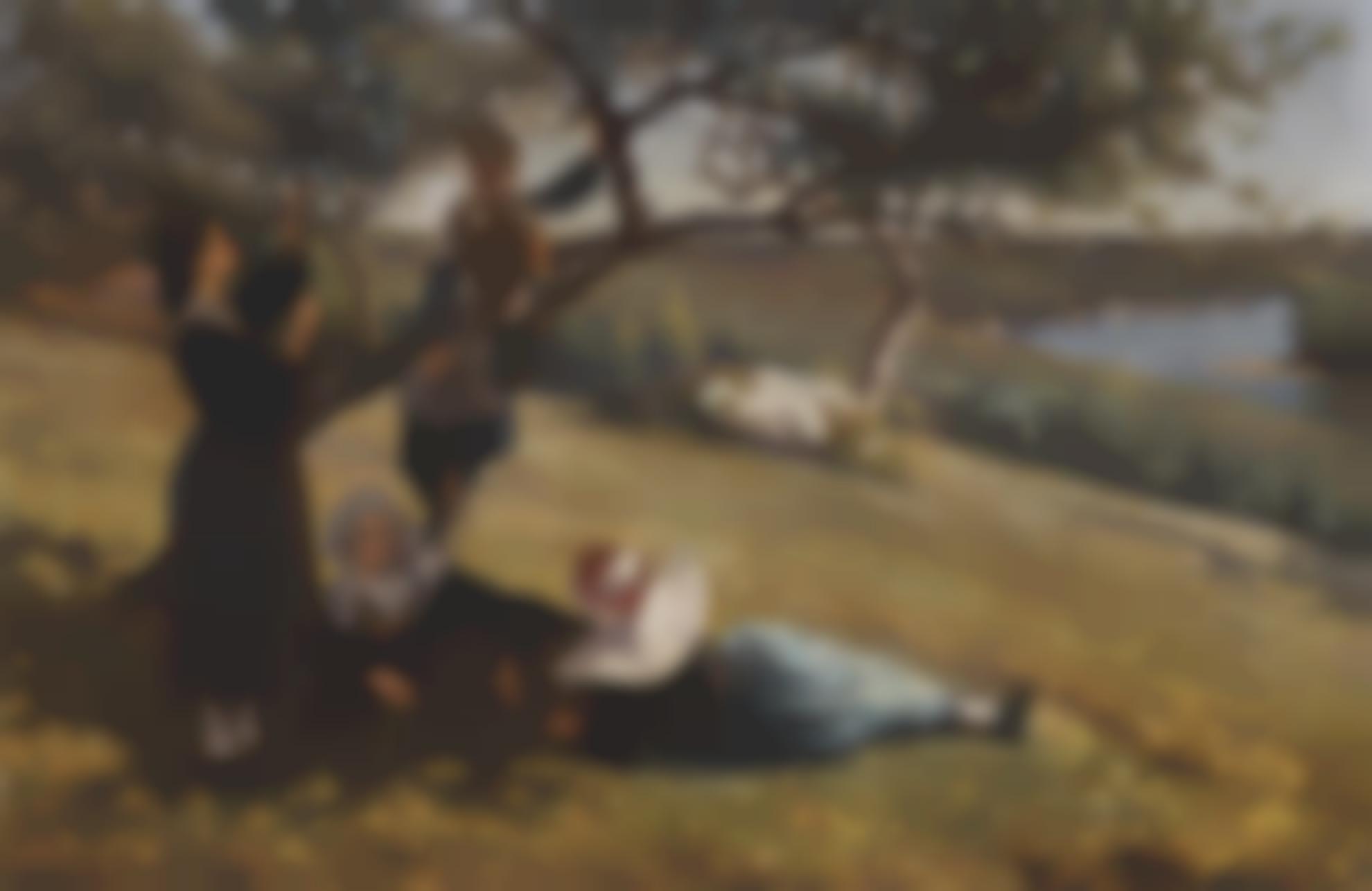 Augustus Nicholas Burke - On The Apple Tree, Brittany-1877