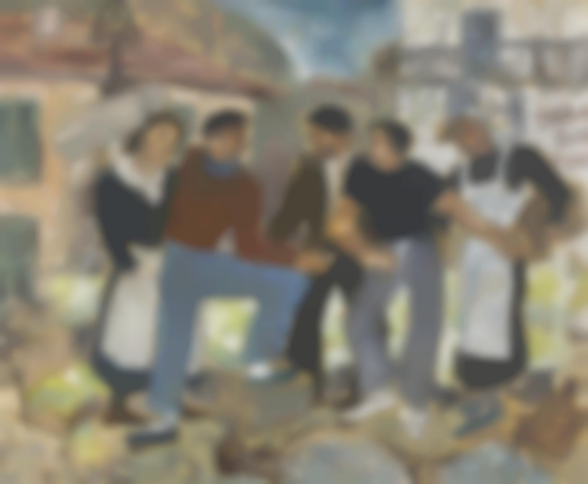 Basil Rakoczi - Market Day, Gorbio-