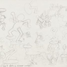 Keith Haring-Untitled (Study For Dusseldorf Sculptures)-1987