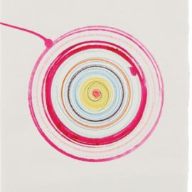 Damien Hirst-Beautiful Lunatics Spinning Drawing (With Breakaway Edge)-1993