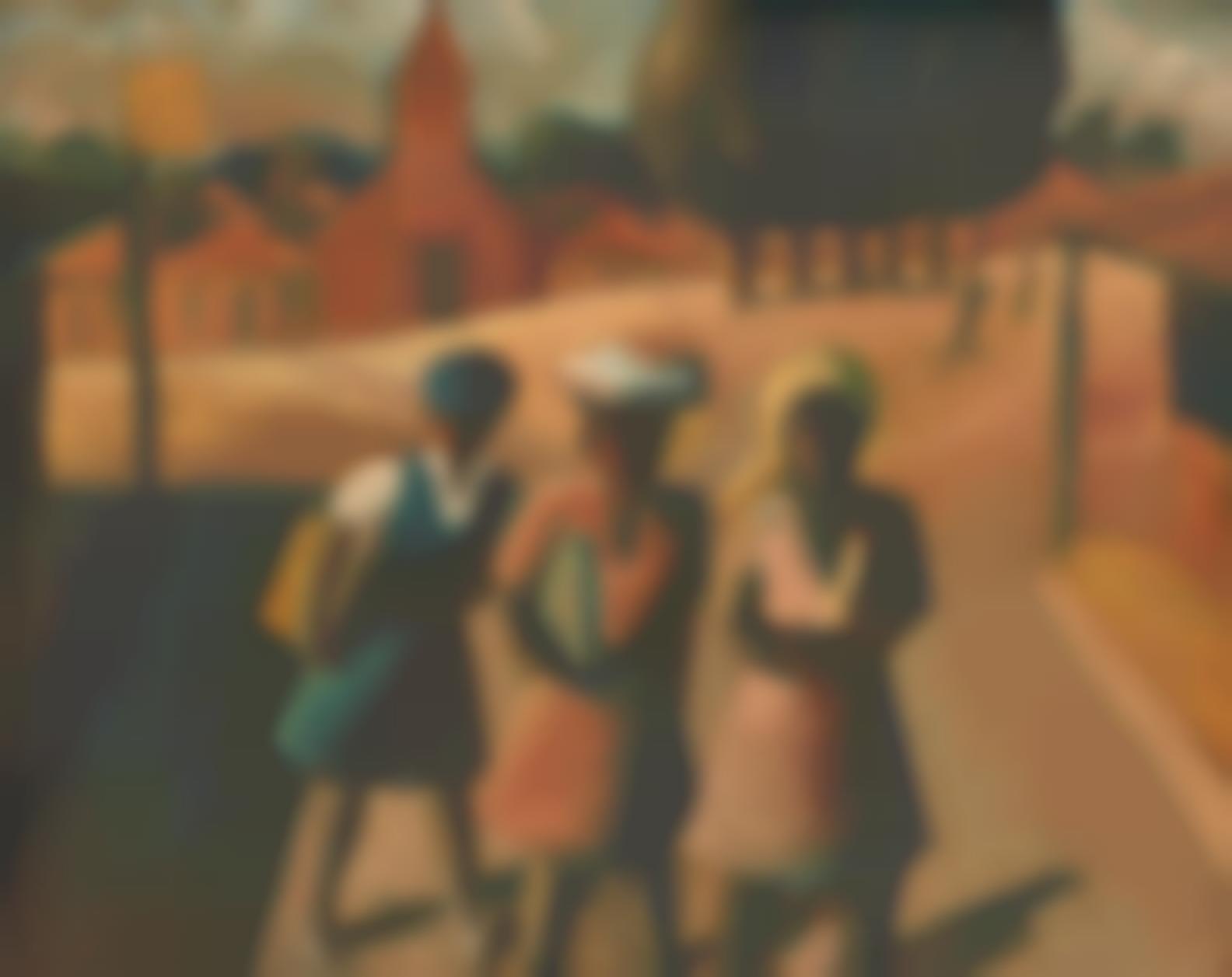 Gerard Sekoto - Three School Girls-