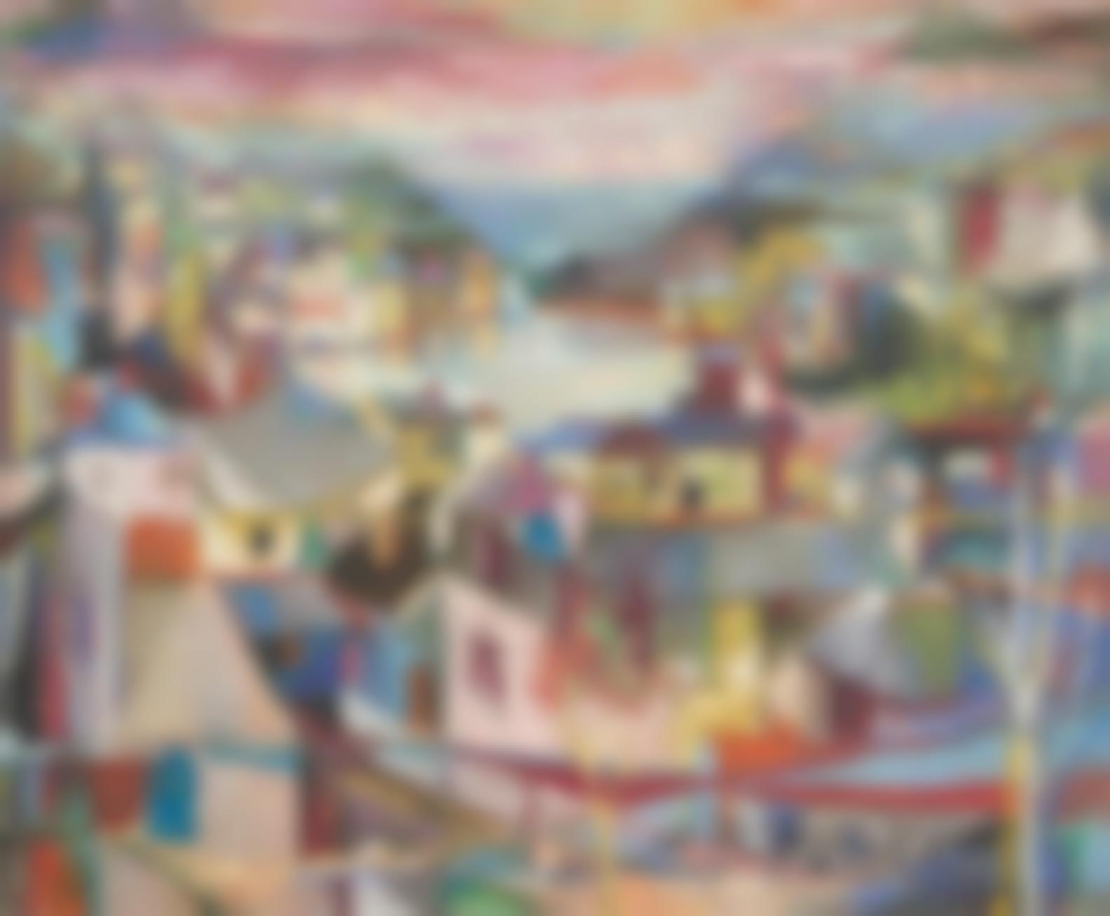 Maud Frances Eyston Sumner - Village On A Lake-