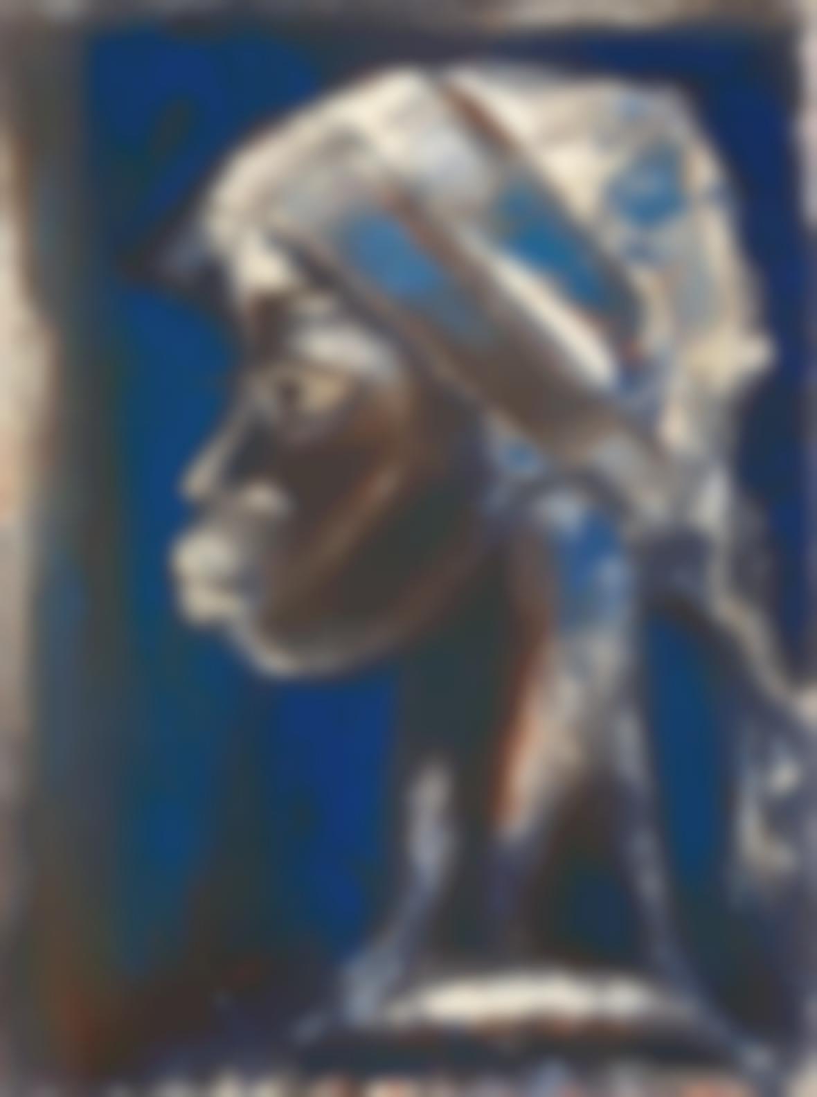 Gerard Sekoto - Portrait Of A Woman-1961
