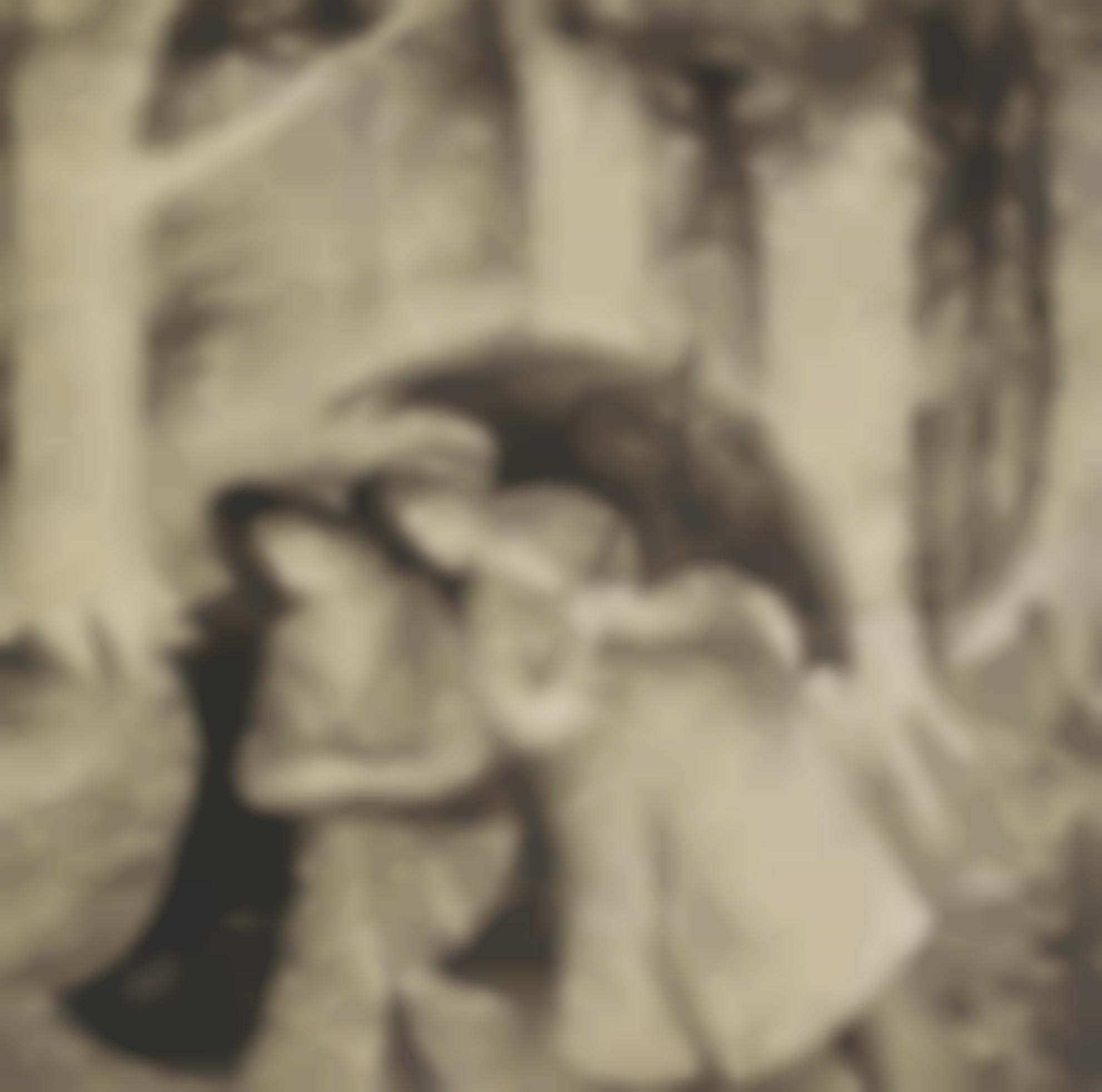 Elisabeth Vellacott-Girls With Umbrella-1950