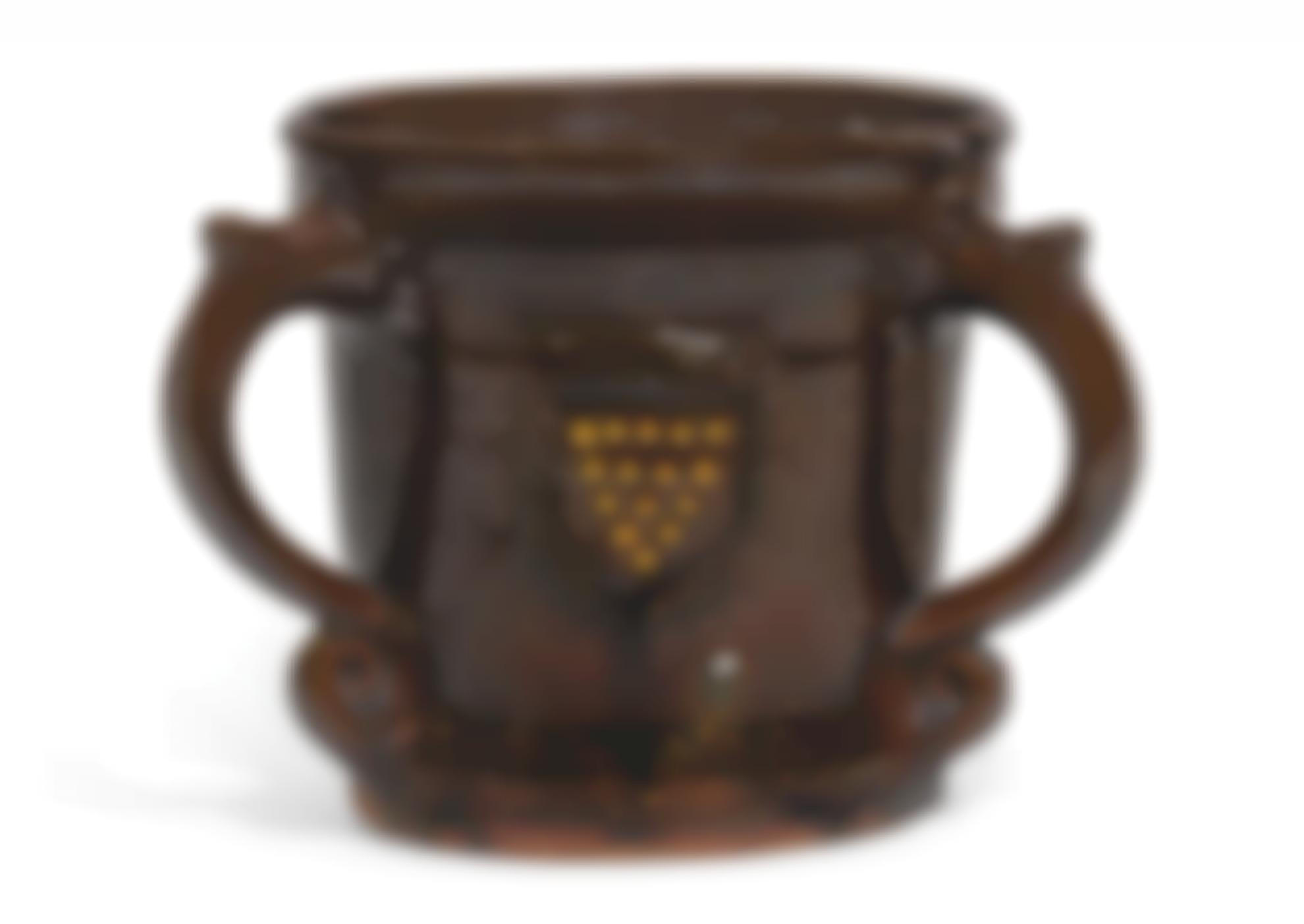 Michael Cardew-Three-Handled Loving Cup Decorated With The Cornish Crest-1926