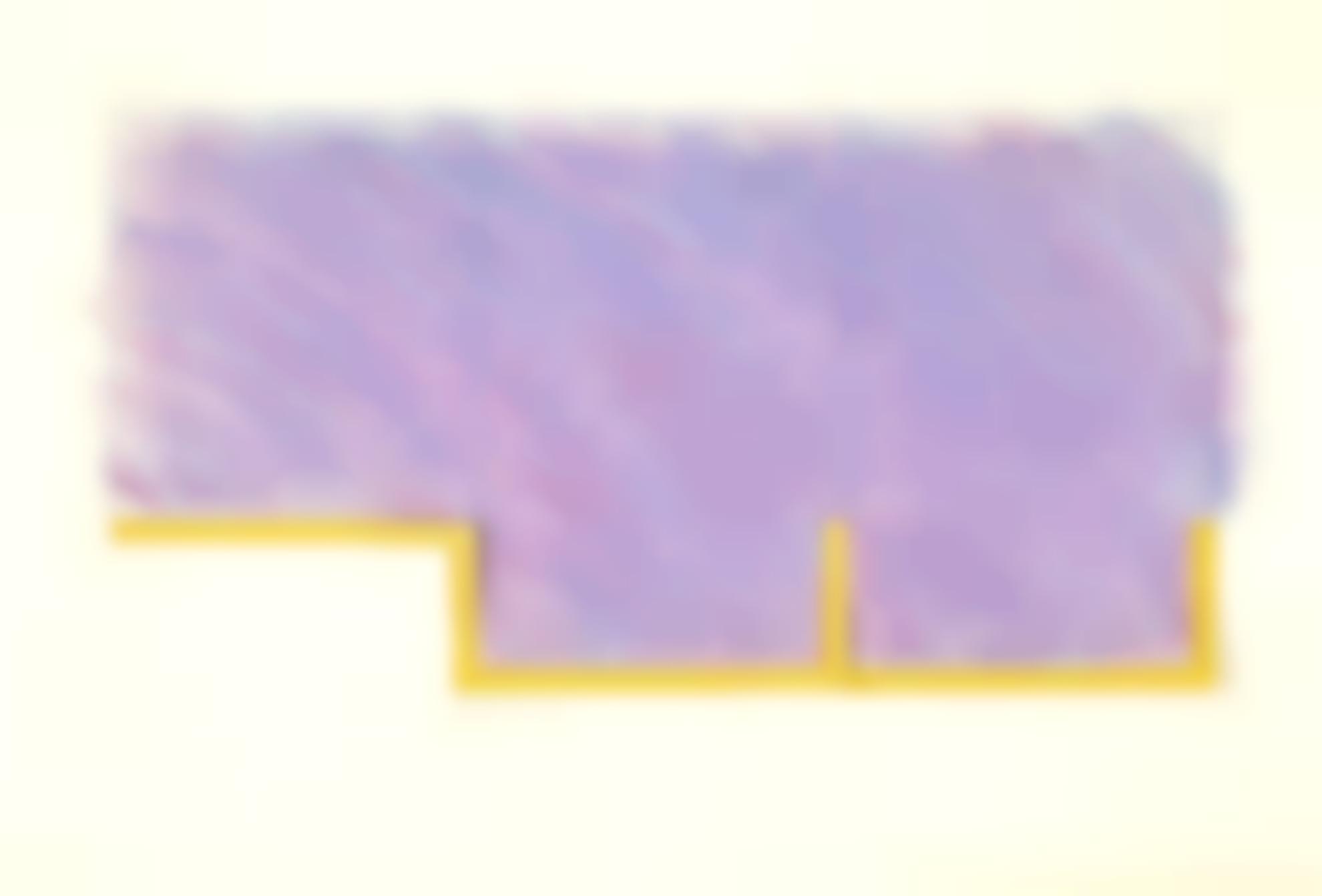 Richard Smith-Drawing (Purple: With Orange)-1969
