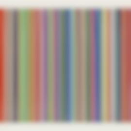 Ian Davenport-Etched Lines: Bright White - Colour Variation 6-2008