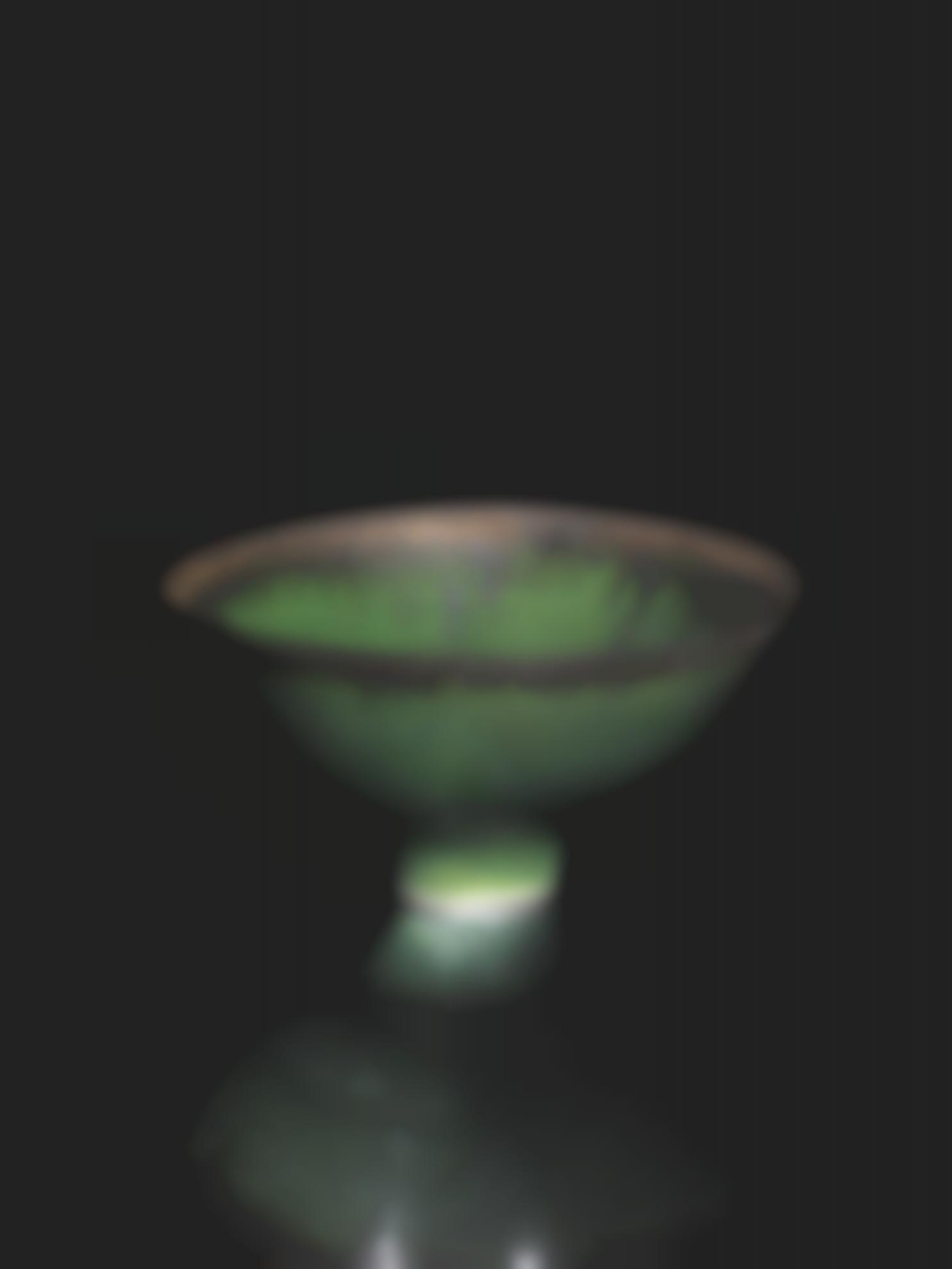 Dame Lucie Rie - Emerald Green Footed Bowl-1980