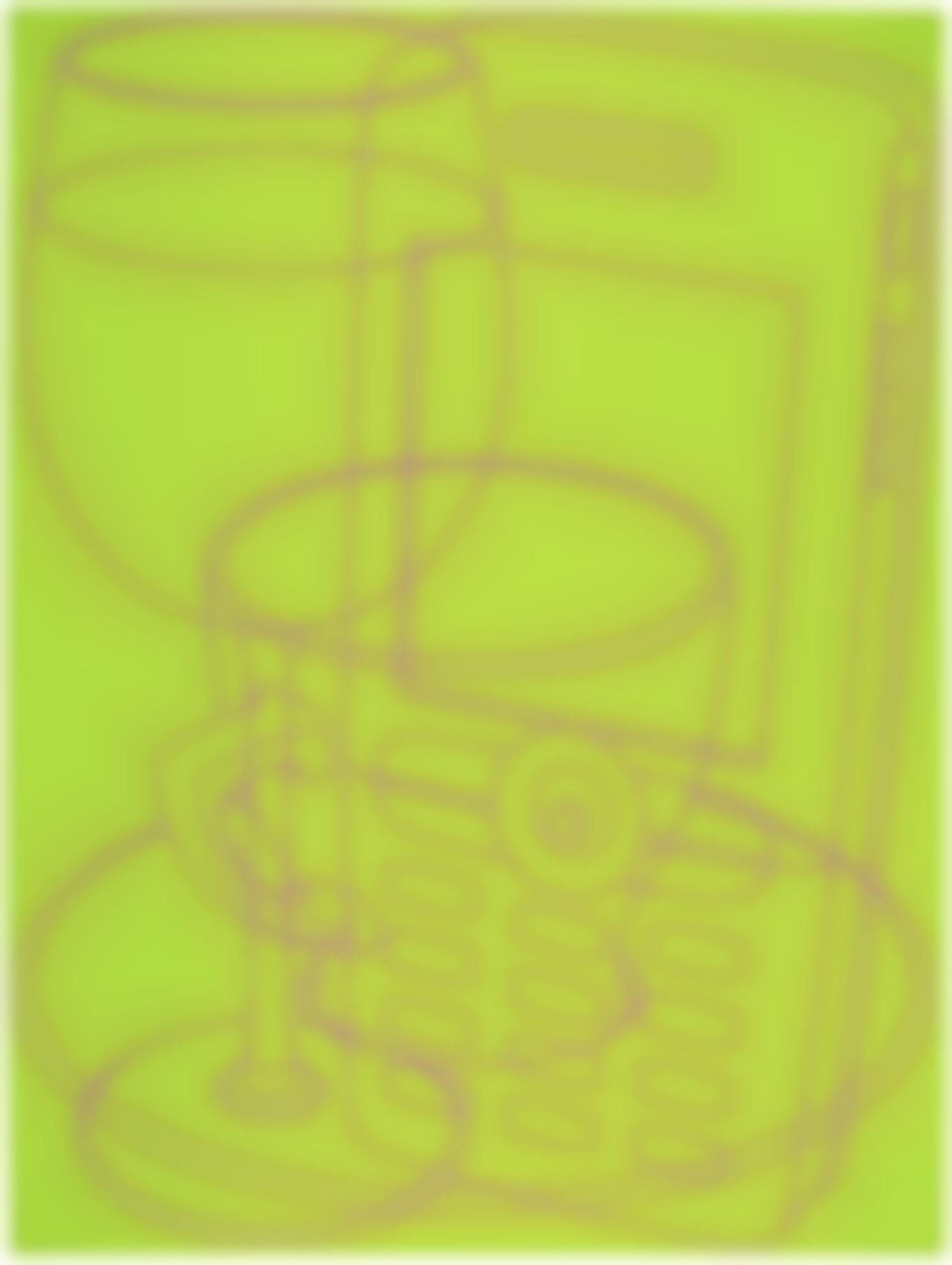 Michael Craig-Martin-Portrait (Green)-2006