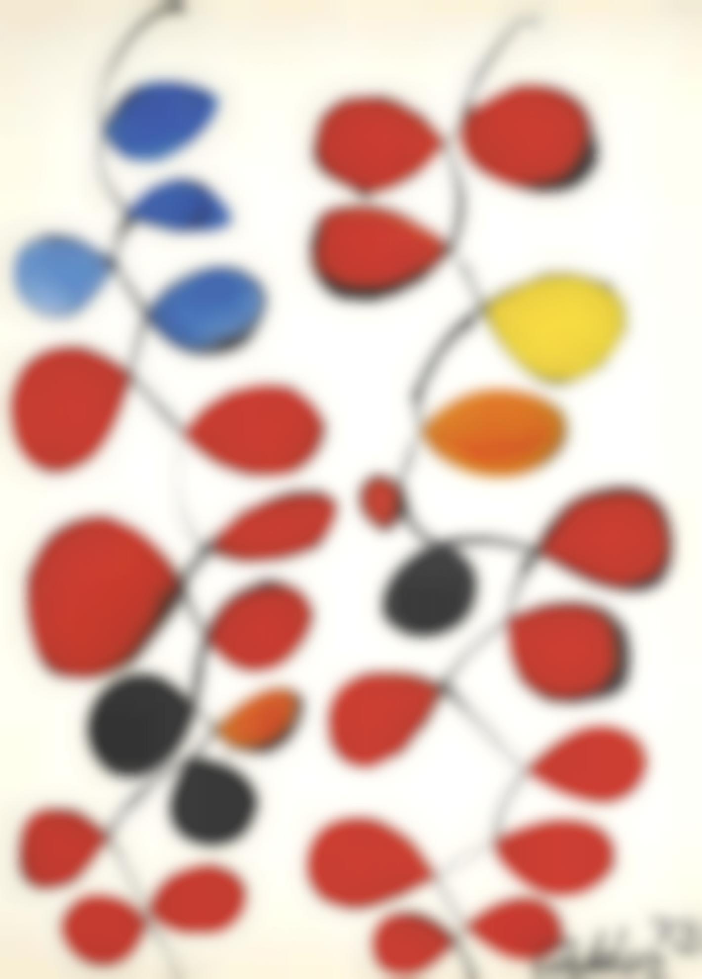 Alexander Calder-A Touch Of Blue-1973