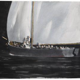 Julio Larraz-Study For Night Fishing-1986
