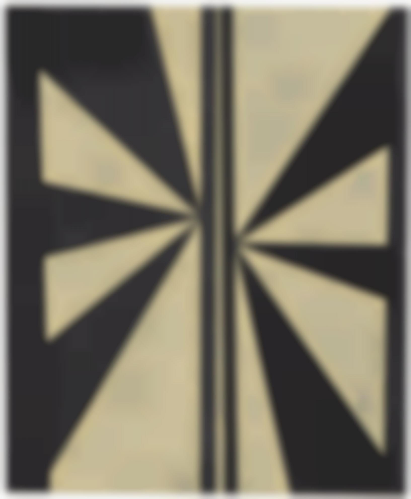 Mark Grotjahn-Untitled (Black And Cream Butterfly)-2005