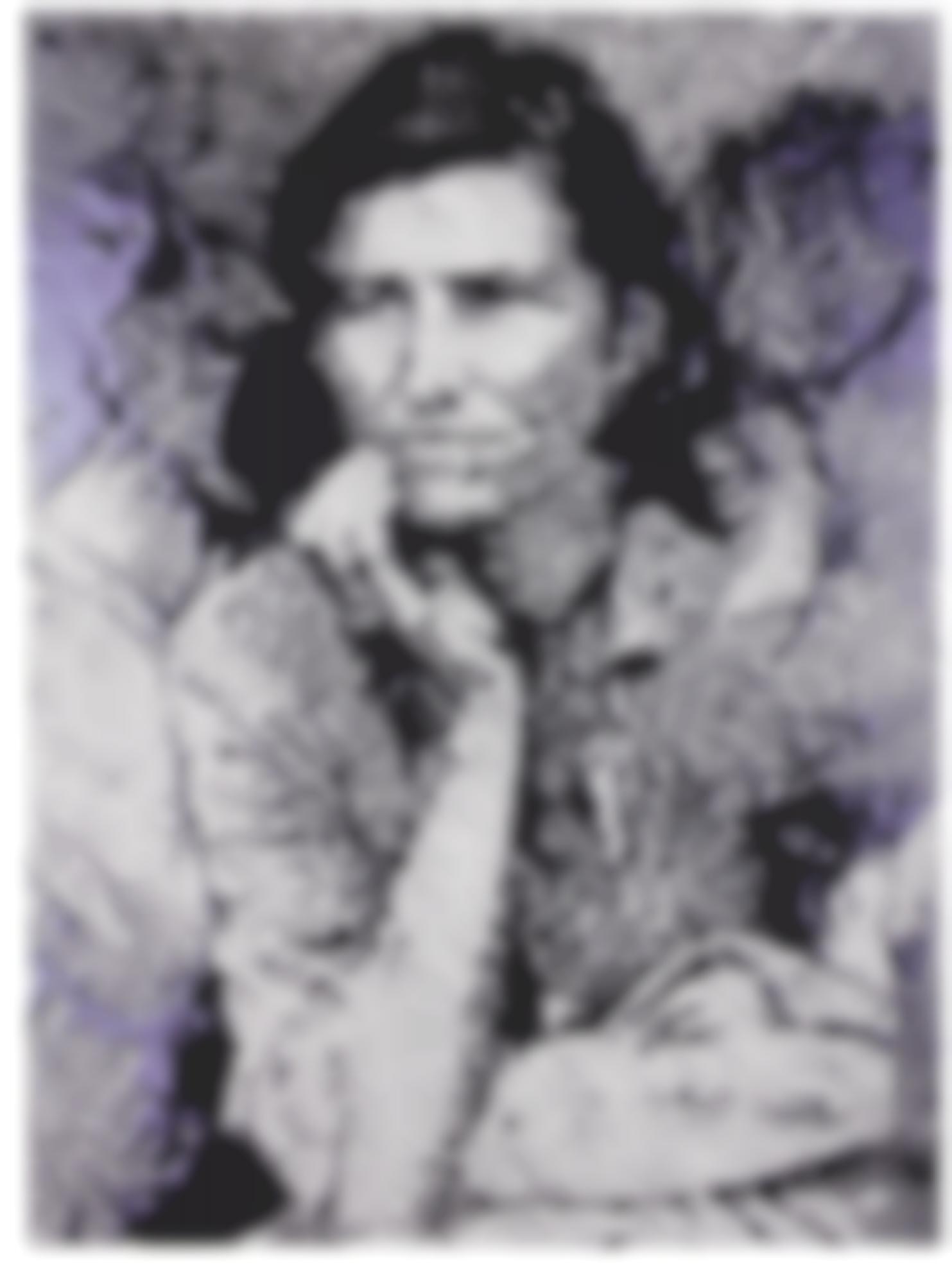Vik Muniz-Migrant Mother, After Dorothea Lange (Pictures Of Ink)-2000