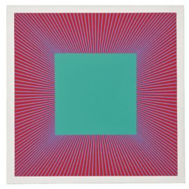 Richard Anuszkiewicz-Deep Emerald Square-1979