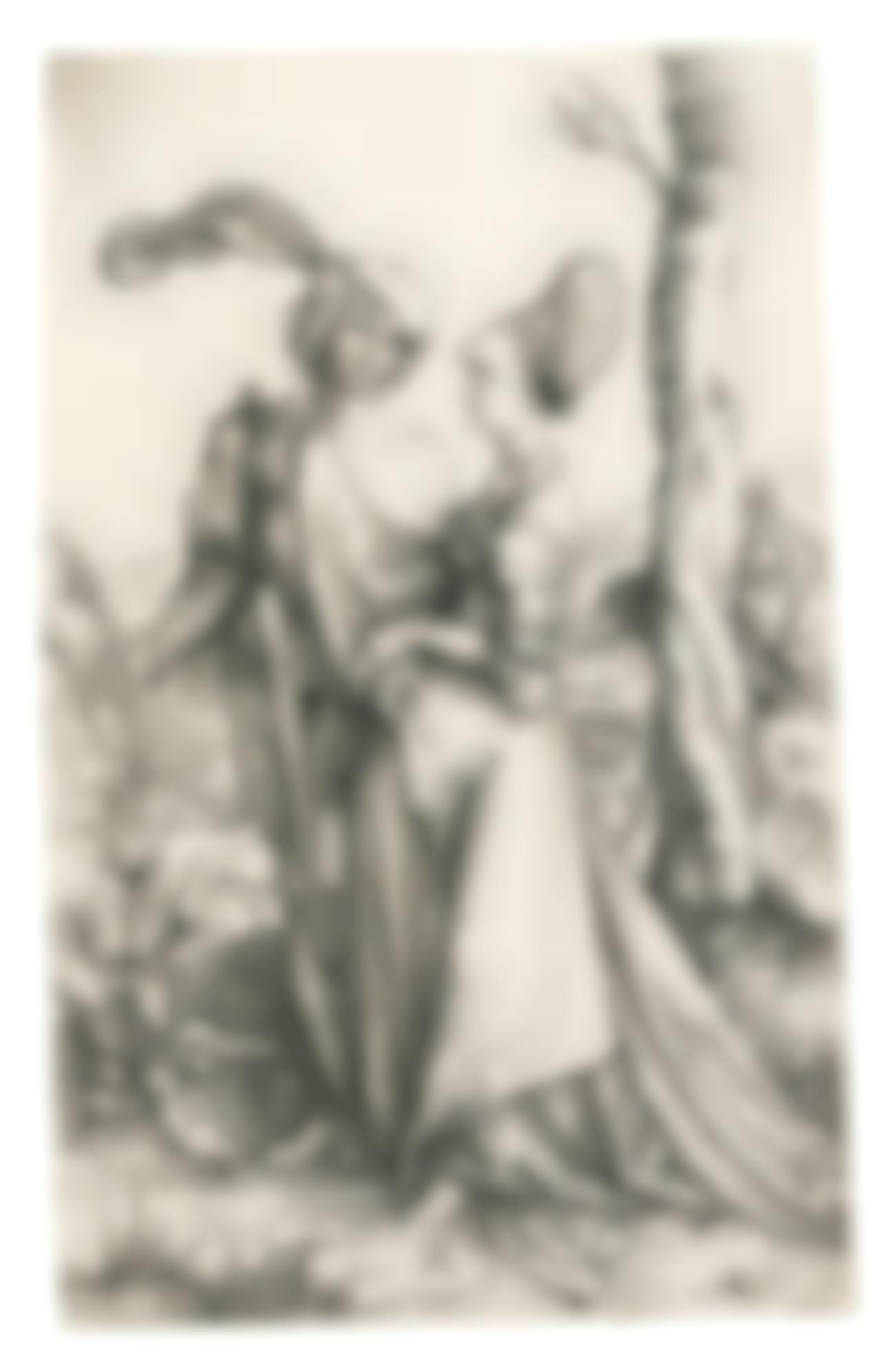 Albrecht Durer-The Promenade (Bartsch 94; Meder, Hollstein 83)-1498