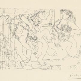 Pablo Picasso-Le Repos Du Sculpteur Devant Une Bacchanale Au Taureau (Bloch 165; Baer 318)-1933