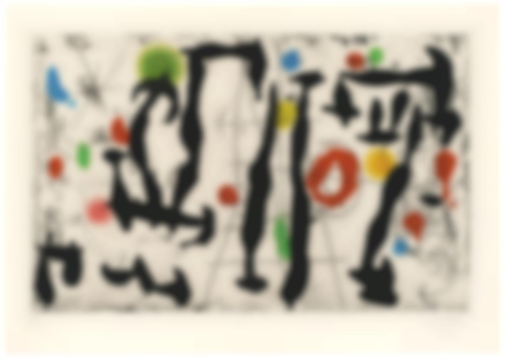 Joan Miro-Trace Sur La Paroi IV (D. 443)-1967