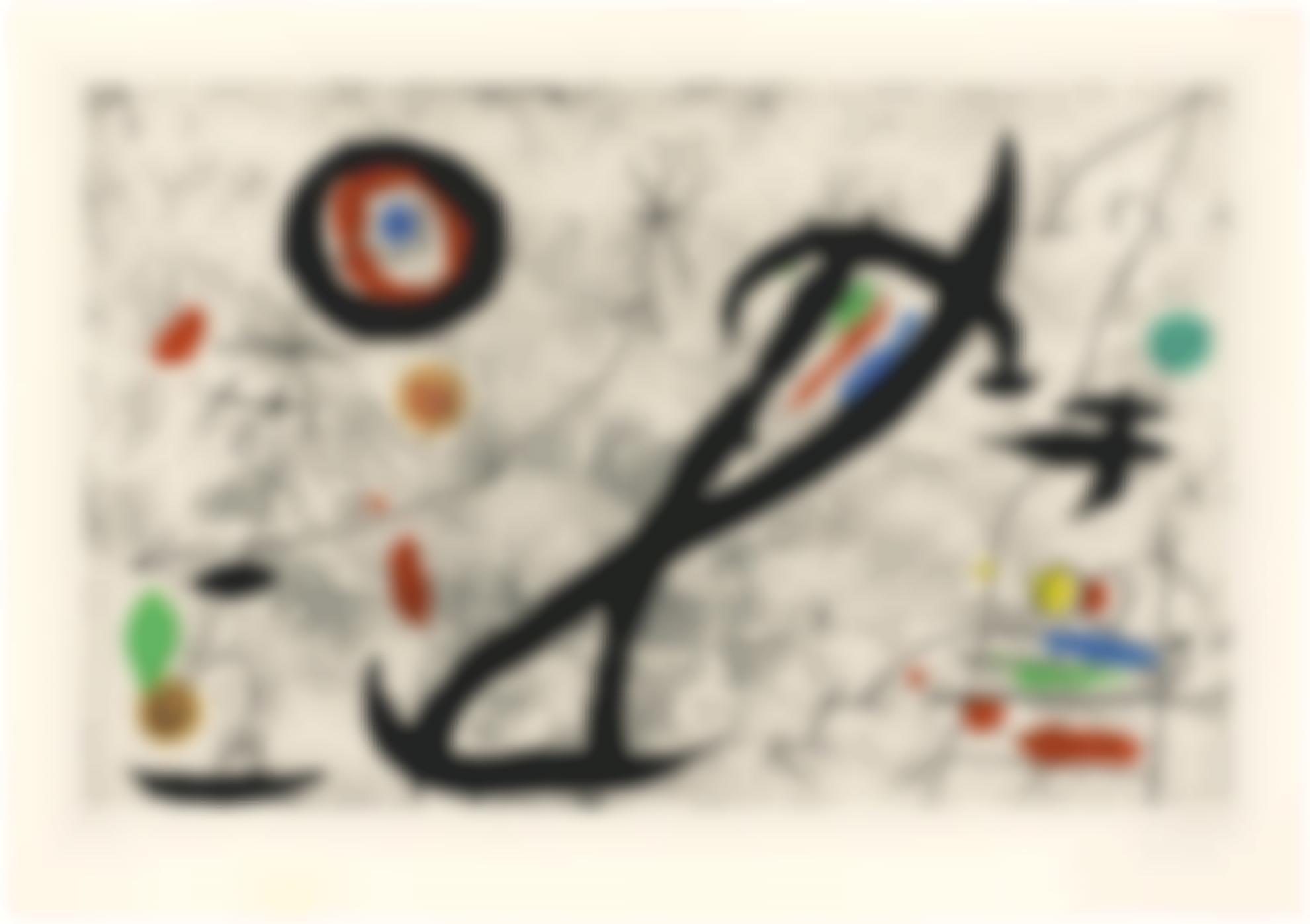 Joan Miro-Trace Sur La Paroi V (D. 444)-1968