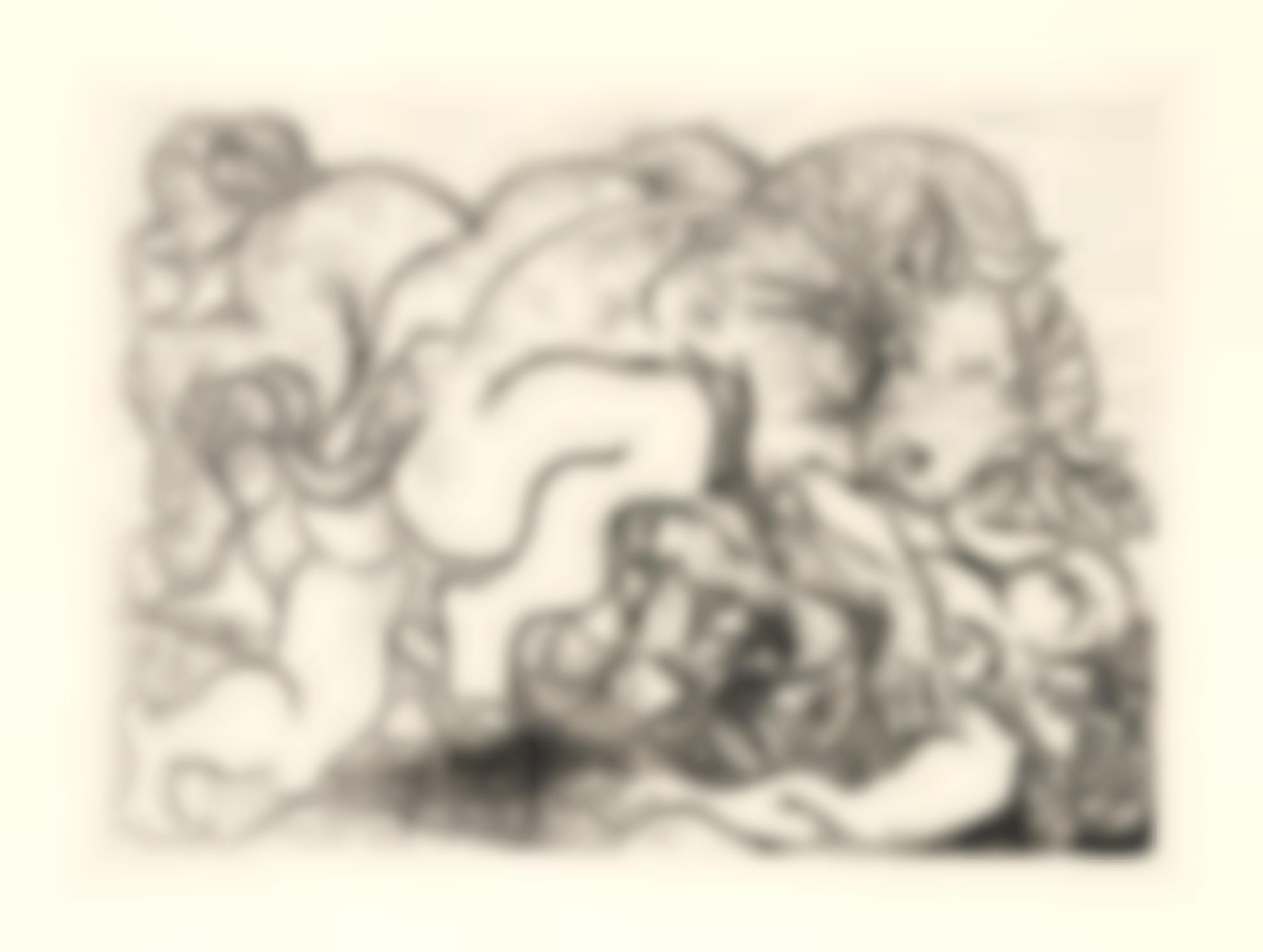 Pablo Picasso-Minotaure Attaquant Une Amazone (B. 195; Ba. 356)-1933