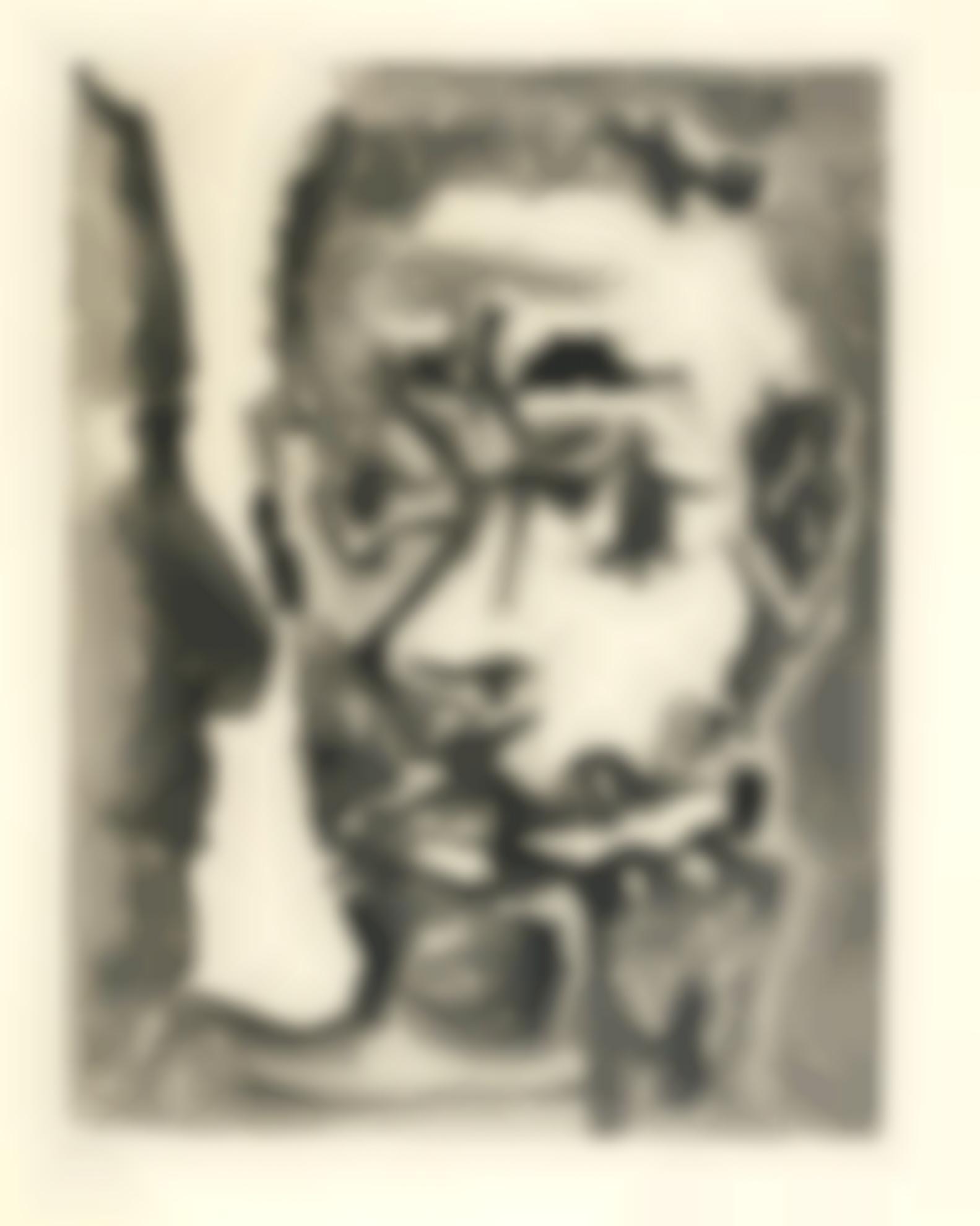Pablo Picasso-Fumeur Avec Un Homme (B. 1174; Ba. 1174)-1964