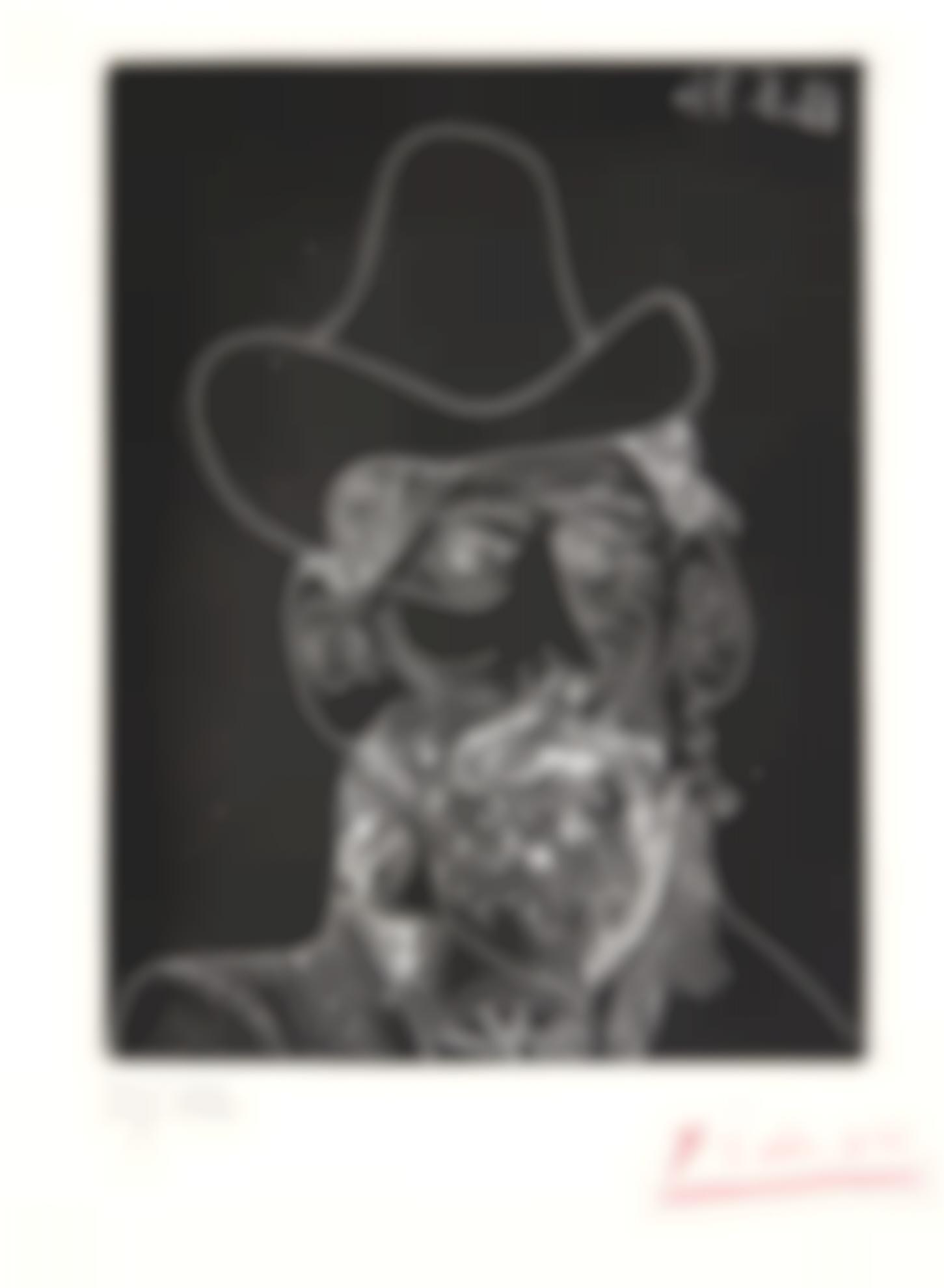 Pablo Picasso-Buste Dhomme Barbu Au Chapeau (B. 2014; Ba. 1989; C. Bks 151)-1971