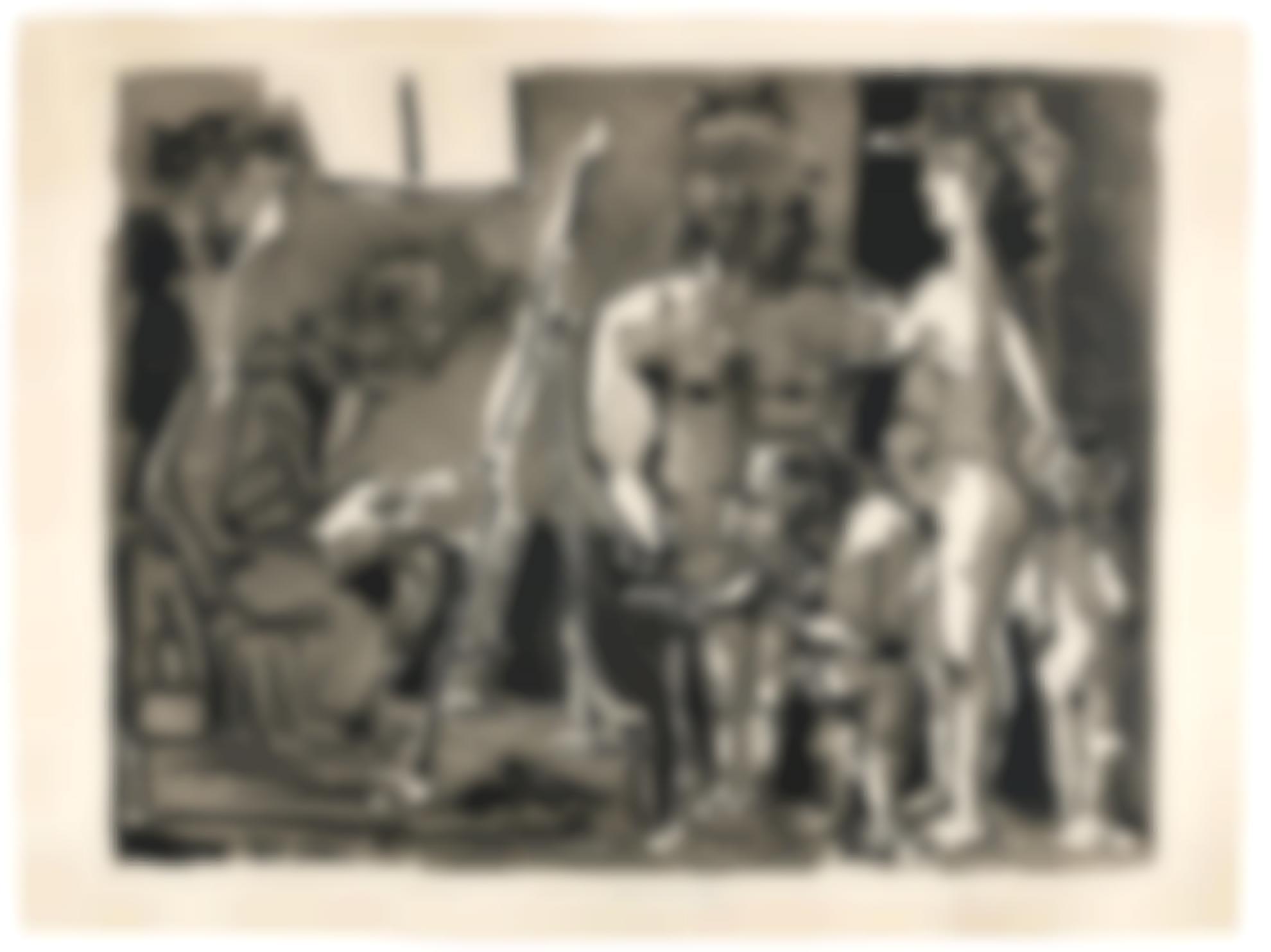 Pablo Picasso-Variation Sur La Theme De Las Meninas: Visiteurs A Latelier (B. 770; Ba. 920)-1955