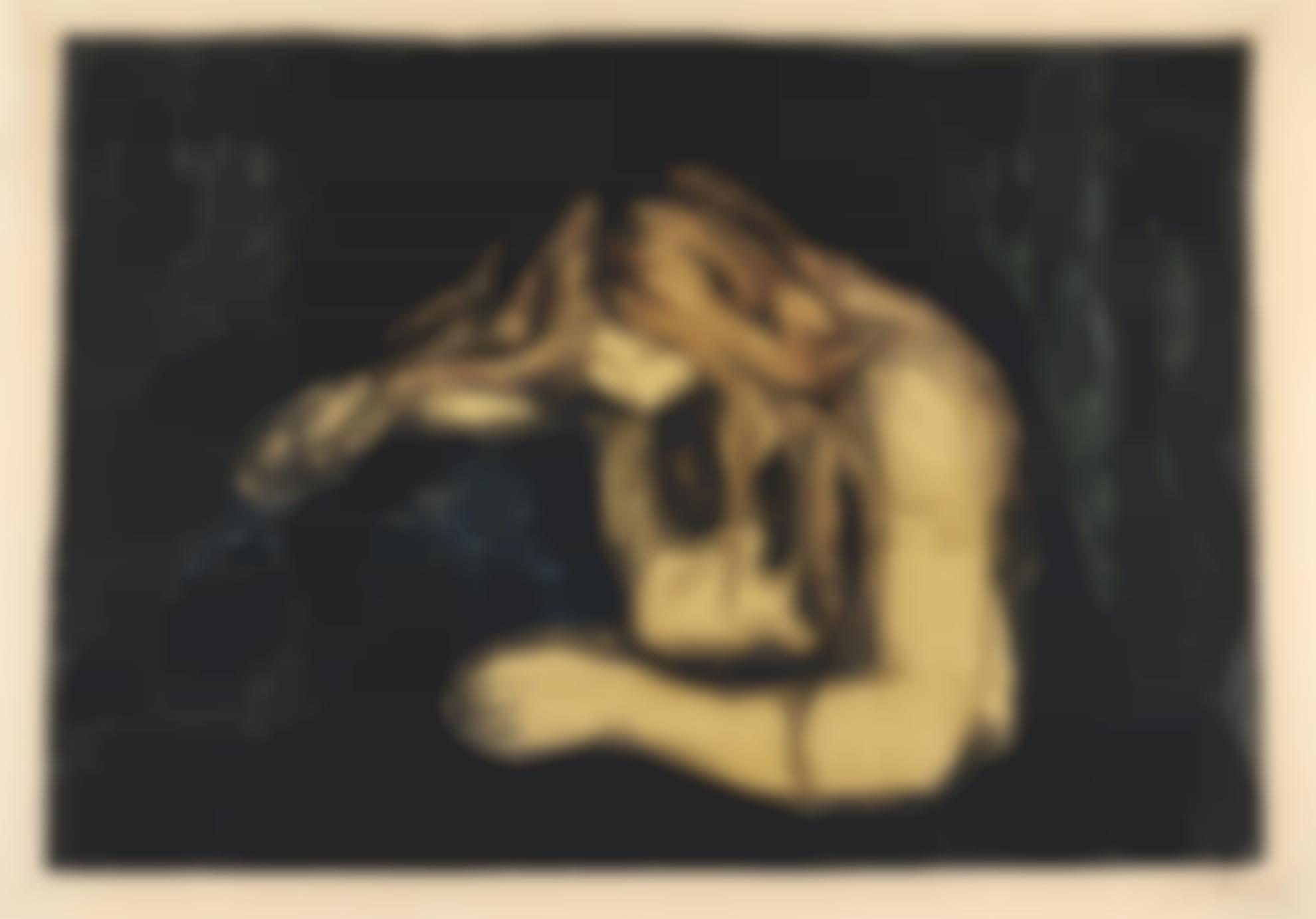 Edvard Munch-Vampire Ii (Woll 41; Schiefler 34)-1902