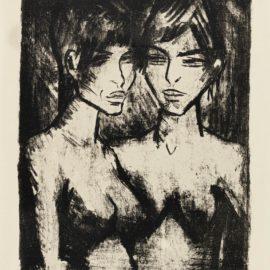Otto Mueller-Zwei Madchen - Halbakte (Russisches Madchenpaar) (K. 121)-1920