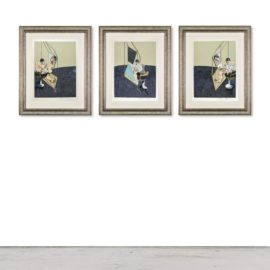Francis Bacon-Three Studies Of The Male Back (S. 21)-1987