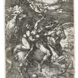 Albrecht Durer-Abduction Of Proserpine On A Unicorn (B. 72; M., Holl. 67)-1516