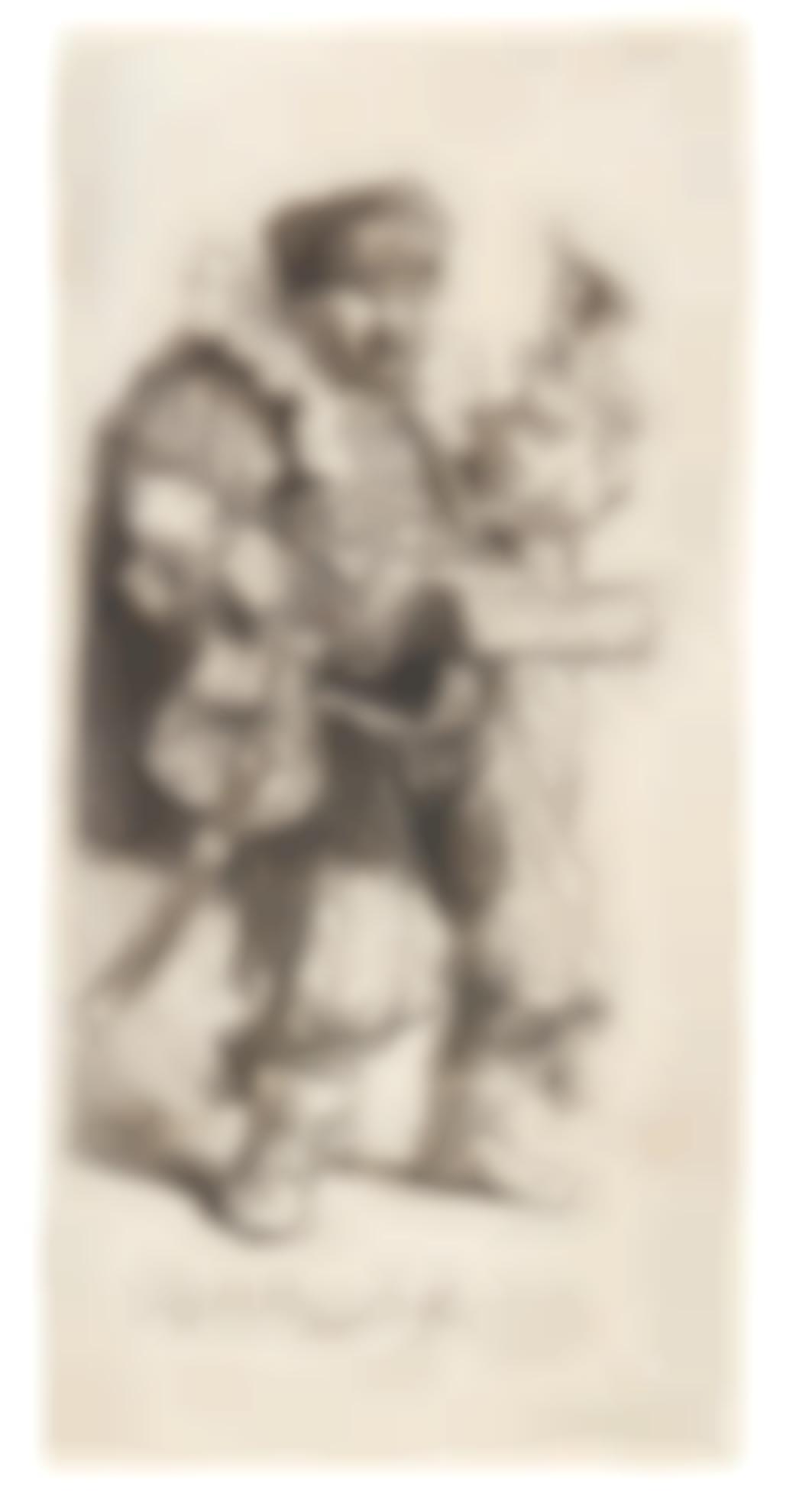 Rembrandt van Rijn-The Quacksalver (B., Holl. 129; New Holl. 145; H. 139)-1635