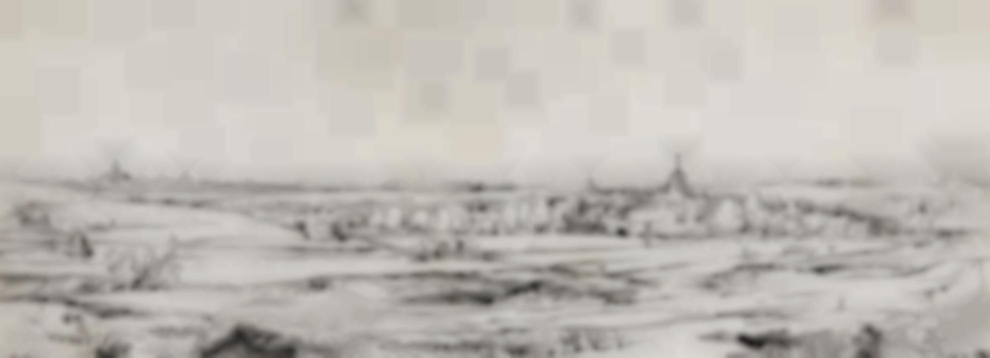 Rembrandt van Rijn-Panorama Near Bloemendael Showing The Saxenburg Estate (The Goldweighers Field) (B., Holl. 234; New Holl. 257; H. 249)-1651