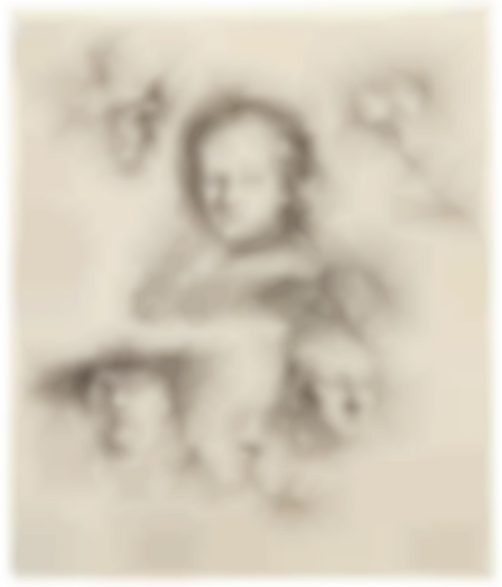 Rembrandt van Rijn-Studies Of Head Of Saskia And Others (B., Holl. 365; New Holl. 157; H. 145)-1636