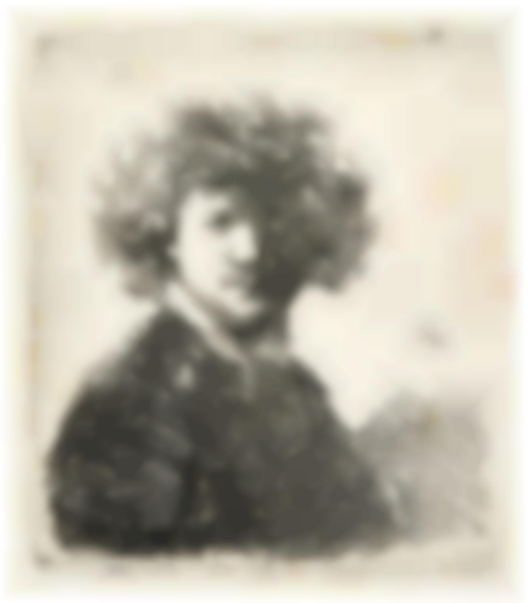 Rembrandt van Rijn-Self-Portrait With Curly Hair And White Collar: Bust (B., Holl. 1; New Holl. 66; H. 33)-1630