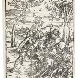 Albrecht Durer-Hercules Conquering The Molionide Twins (B. 127; M., Holl. 238)-1496