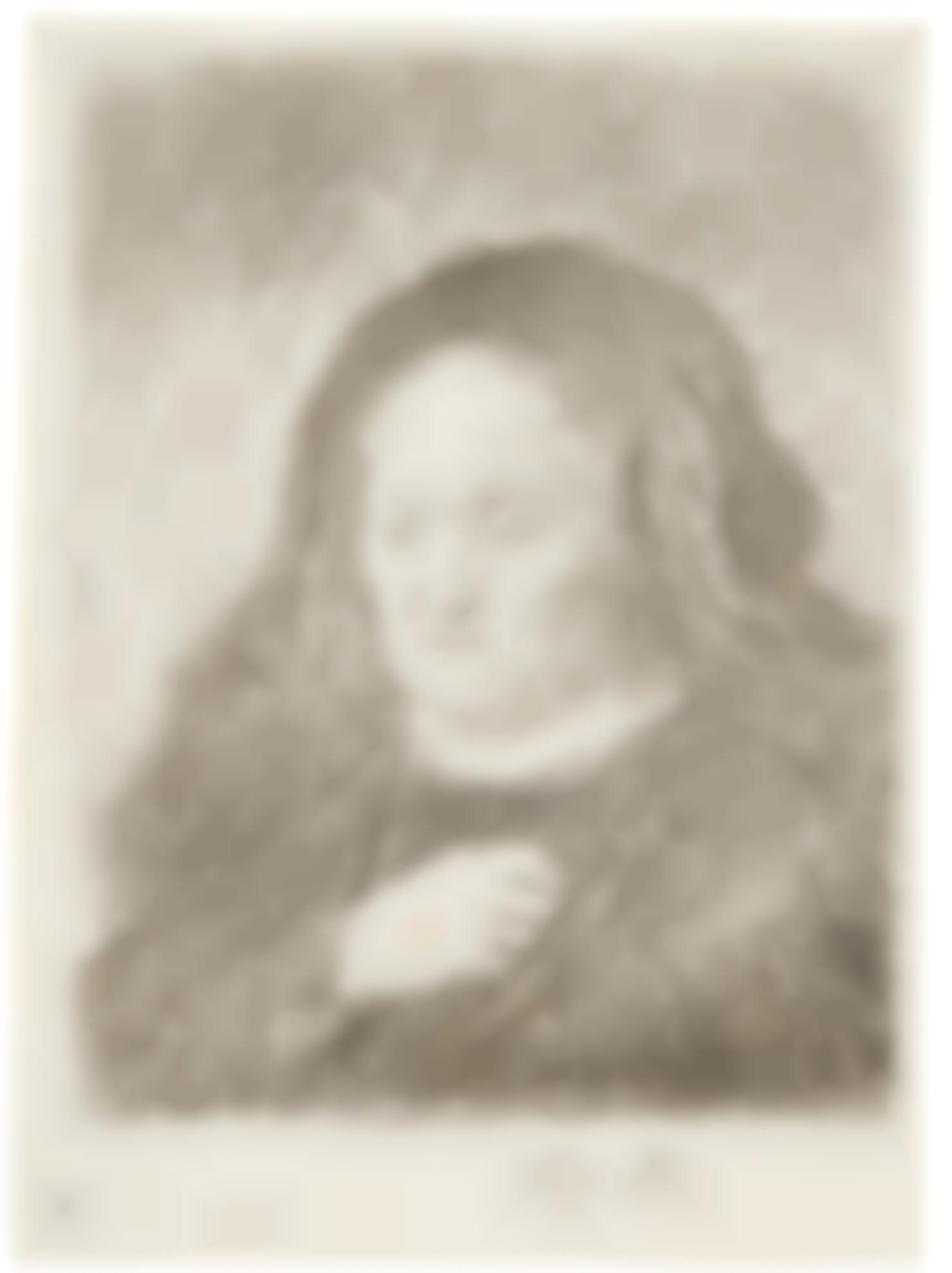 Rembrandt van Rijn-(i) The Artists Mother With Her Hand On Her Chest, A Counterproof; And The Artists Mother, Head And Bust: Three Quarters Right (B., Holl. 349, 354; (New Holl. 87, 5; H. 50, 1); (ii) New Holl. 5; (iii) The Artist's Mother with her Hand on her Chest (New Holl. 87); (iv) Bald Man in a Fur Cloak: Bust (New Holl. 99W)-1631