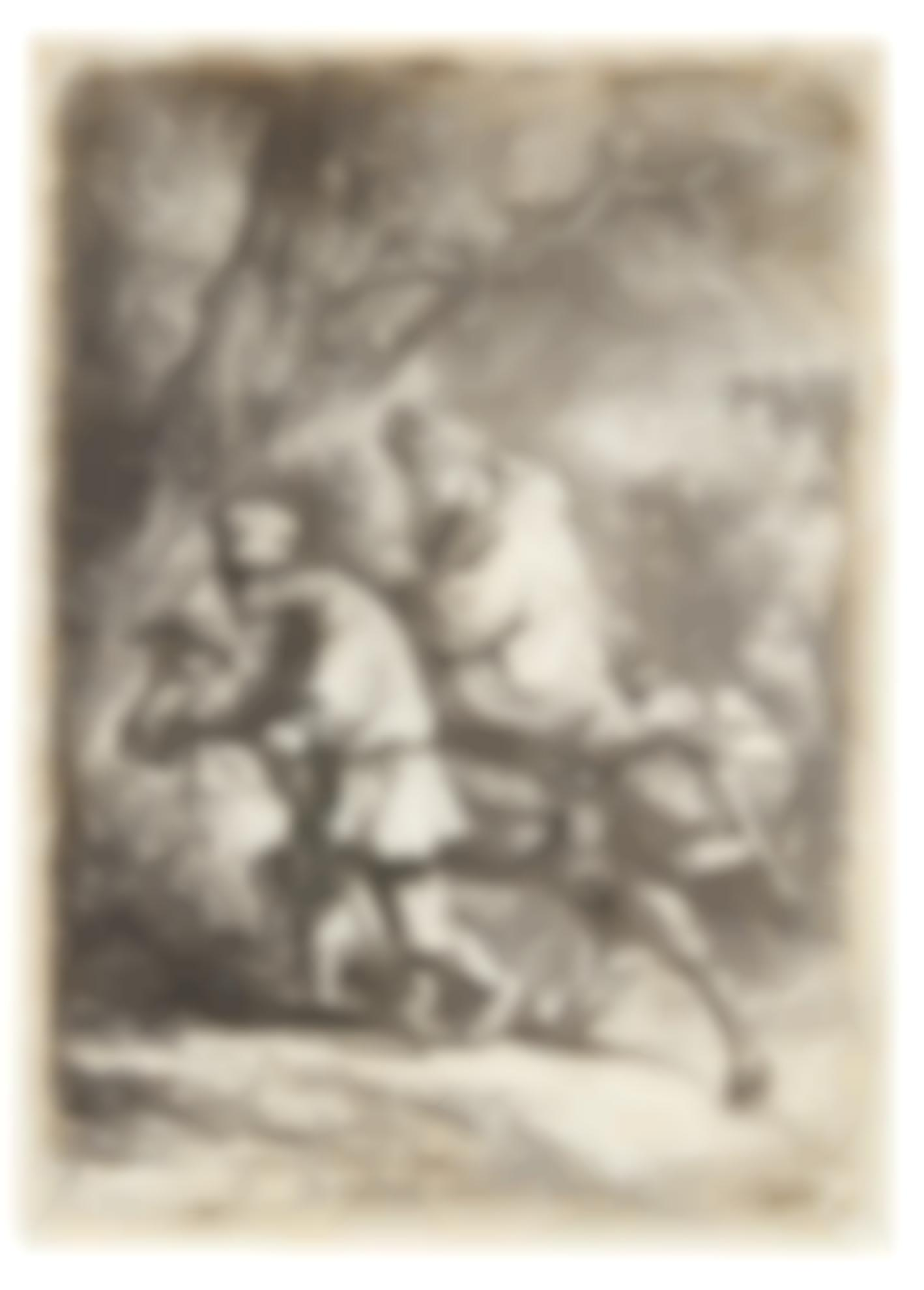 Rembrandt van Rijn-(i) The Flight Into Egypt: Small (B., Holl. 52; New Holl. 117; H. 105); (ii) The Flight into Egypt: Crossing a Brook (New Holl. 277); (iii) The Circumcision in the Stable (New Holl. 280)-1654