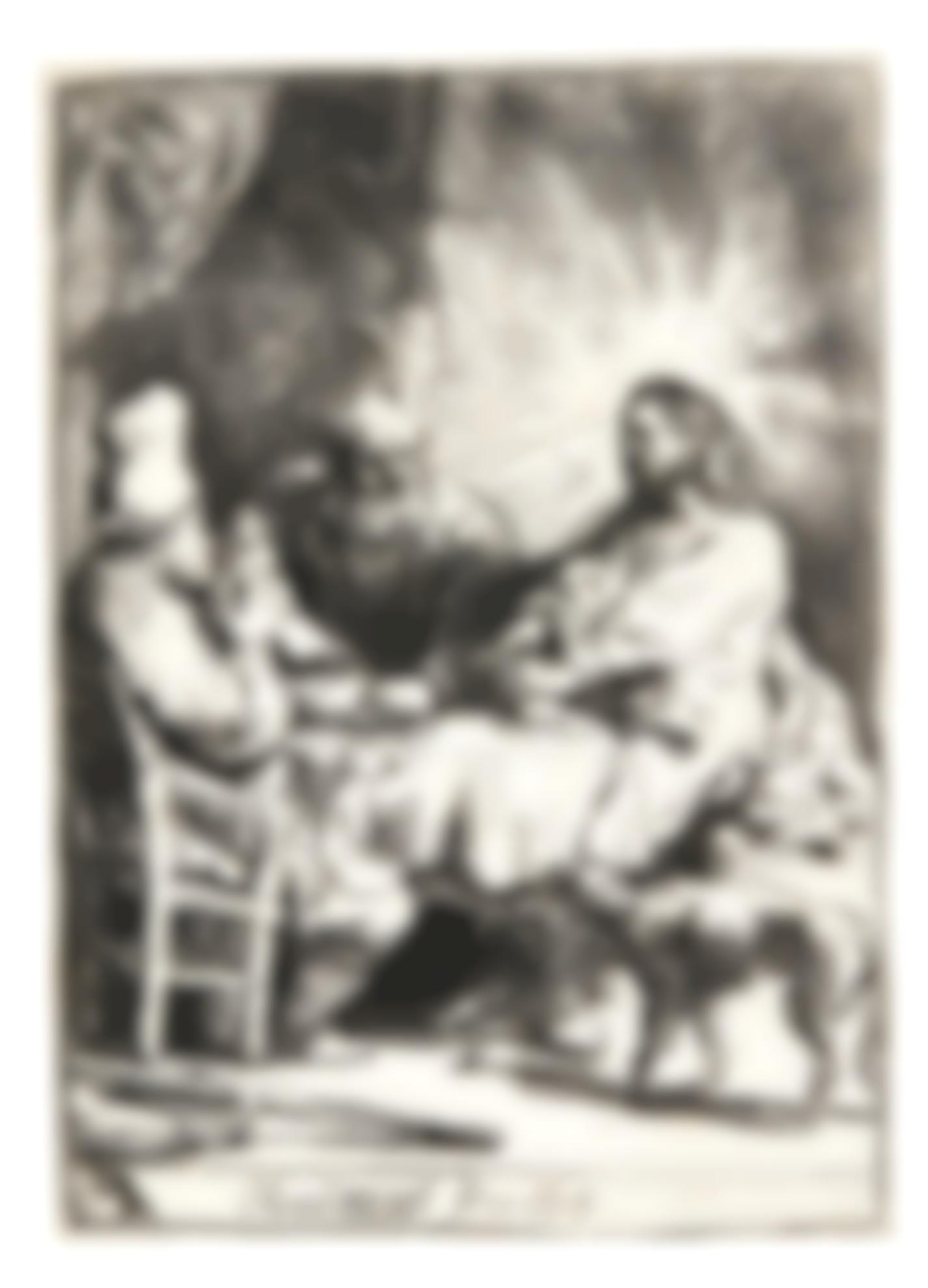 Rembrandt van Rijn-Christ At Emmaus: The Smaller Plate (B., Holl. 88; New Holl. 129; H. 121)-1634
