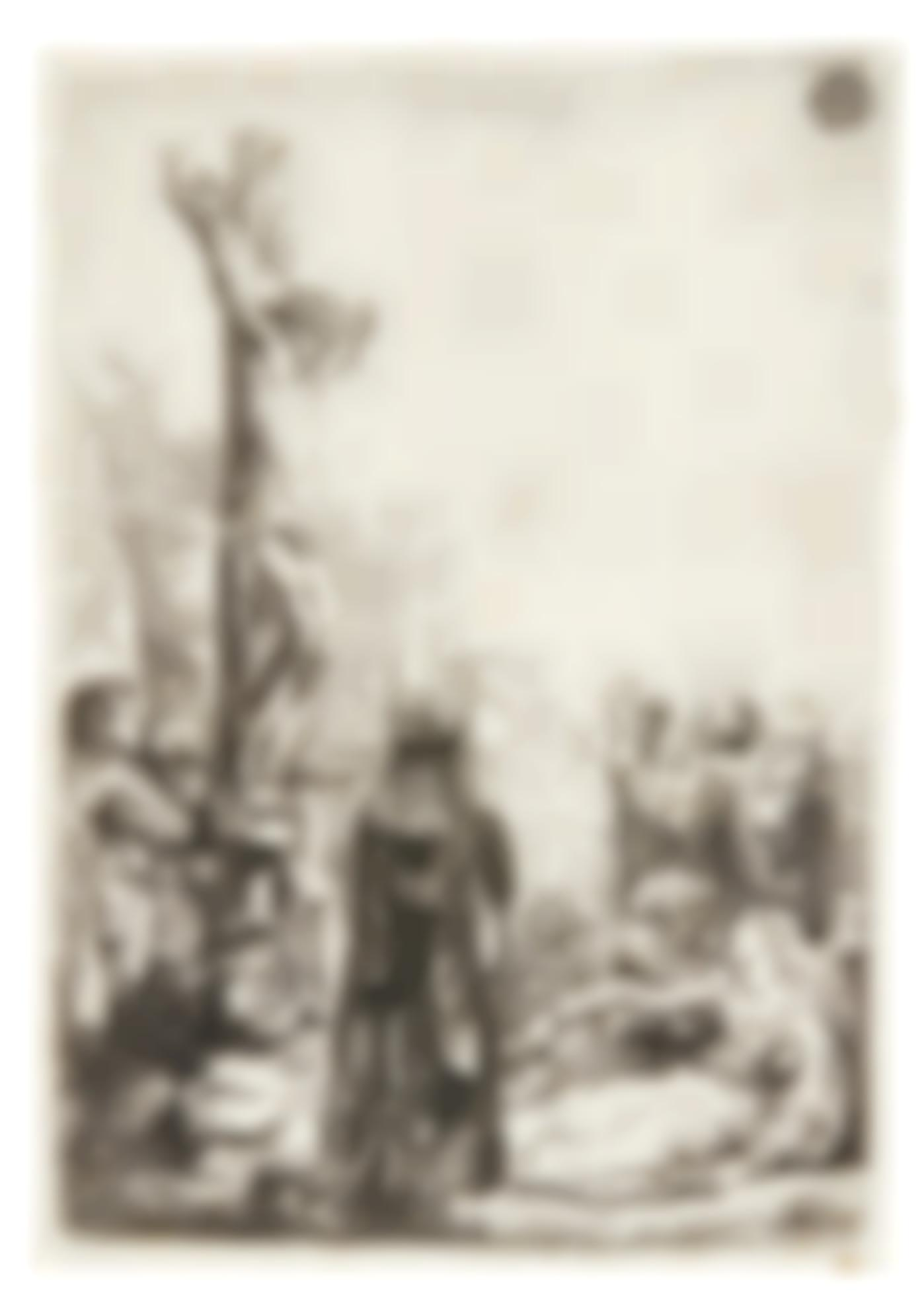 Rembrandt van Rijn-The Crucifixion: Small Plate (B., Holl. 80; New Holl. 143; H. 123)-1635