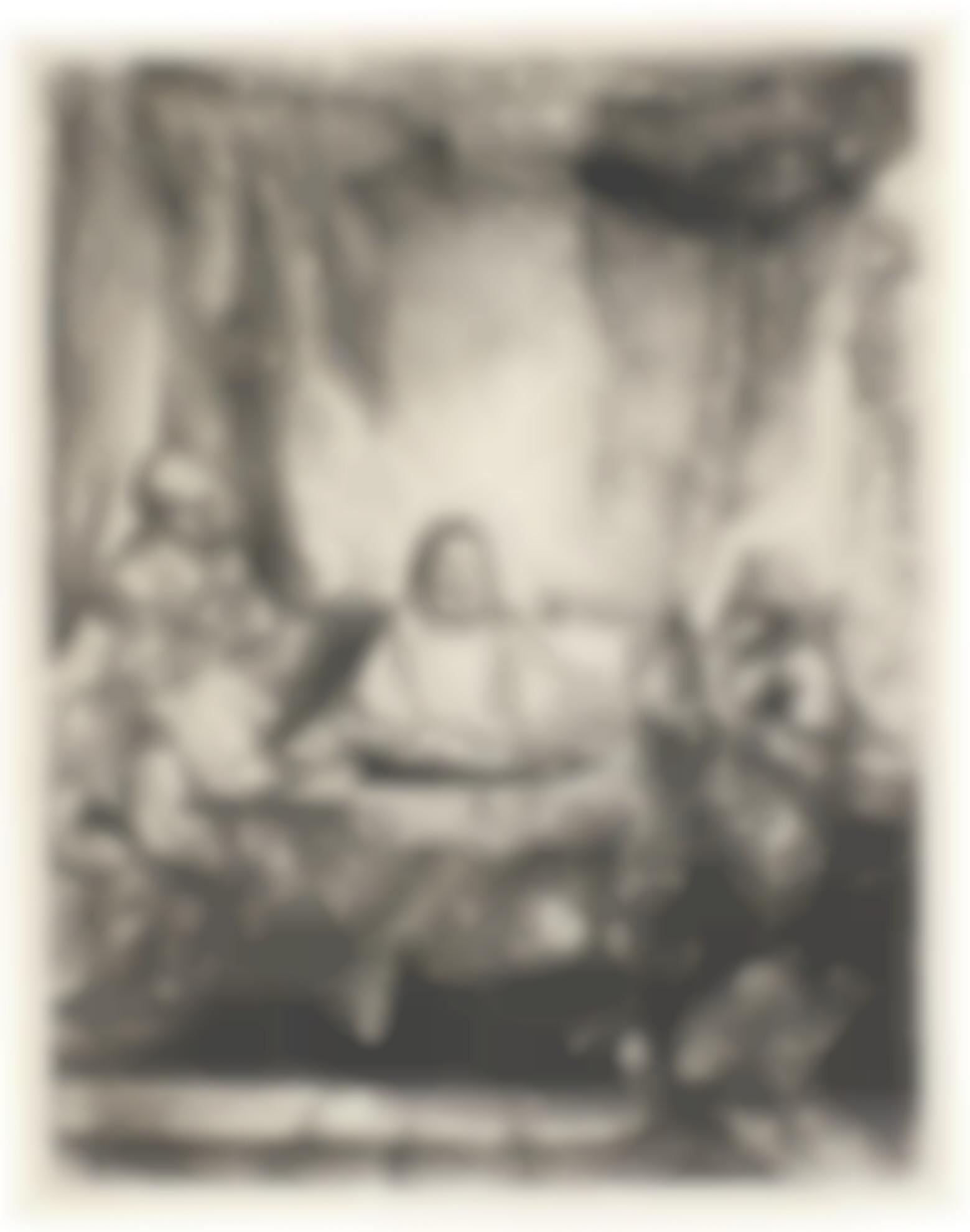 Rembrandt van Rijn-Christ At Emmaus: The Larger Plate (B., Holl. 87; New Holl. 283; H. 282)-1654