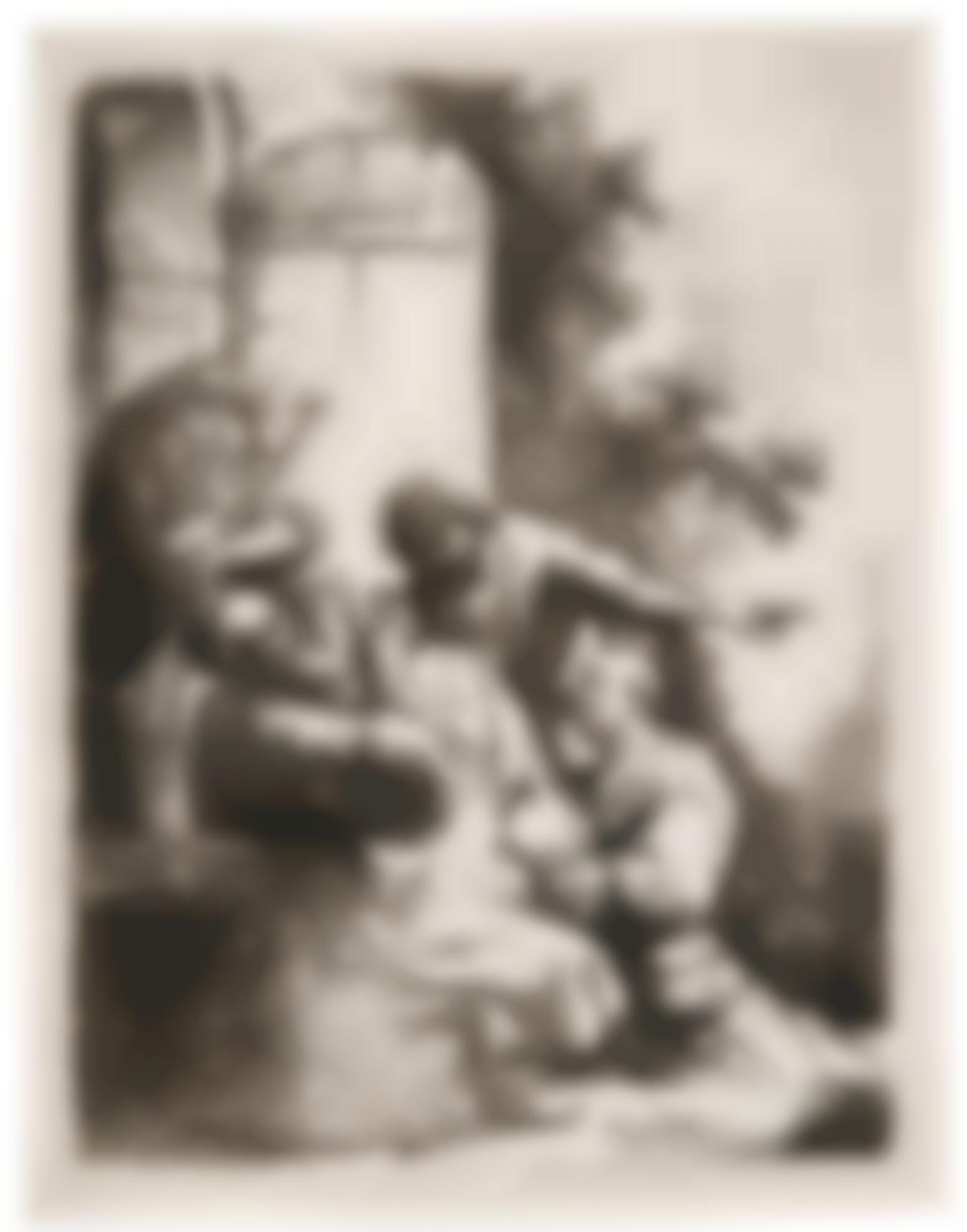 Rembrandt van Rijn-Josephs Coat Brought To Jacob (B., Holl. 38; New Holl. 122; H. 104)-1633