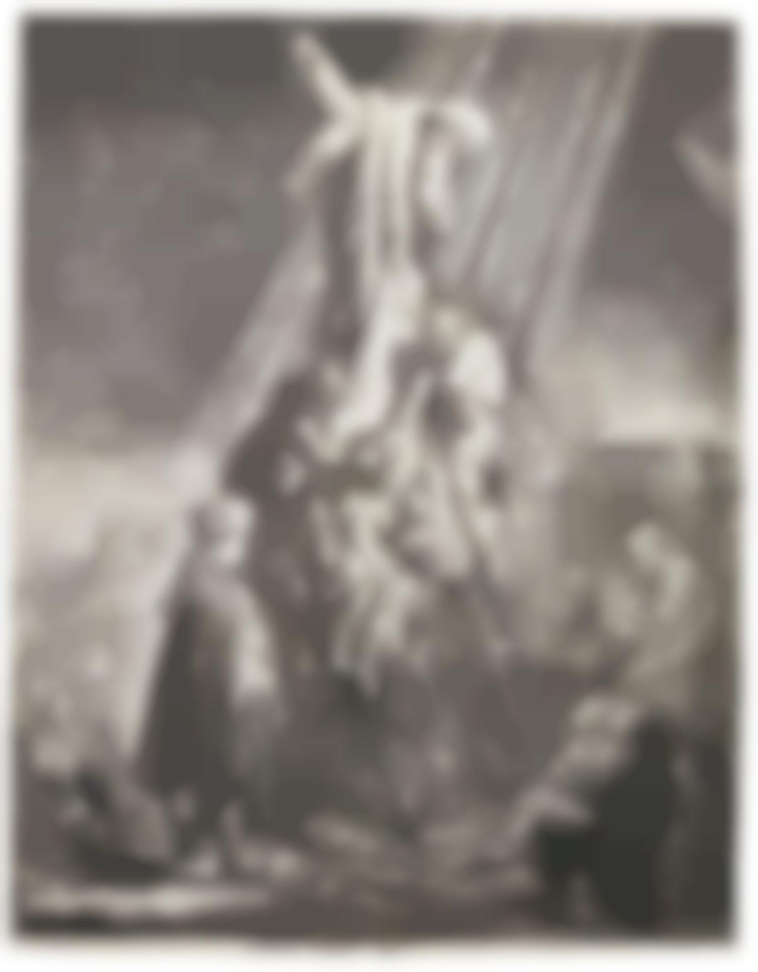 Rembrandt van Rijn-The Descent From The Cross: Second Plate (B., Holl. 81; New Holl. 119; H. 103)-1639