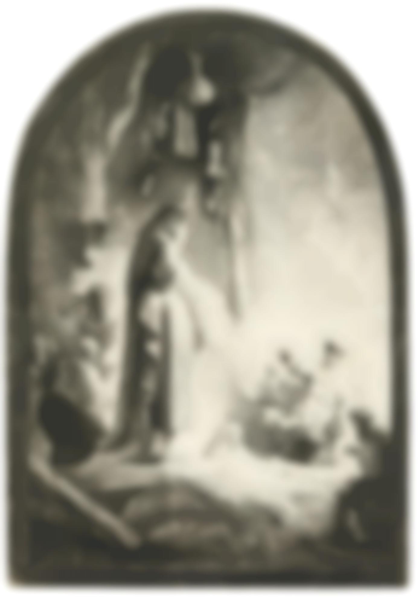 Rembrandt van Rijn-The Raising Of Lazarus: The Larger Plate (B., Holl. 73; New Holl. 113; H. 96)-1632