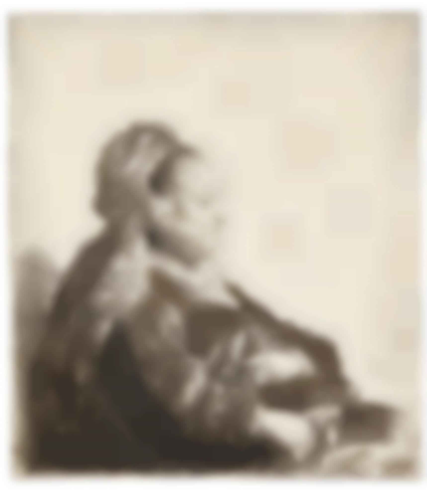 Rembrandt van Rijn-The Artists Mother Seated, In An Oriental Headdress: Half Length (B., Holl. 348; New Holl. 86; H. 51)-1631