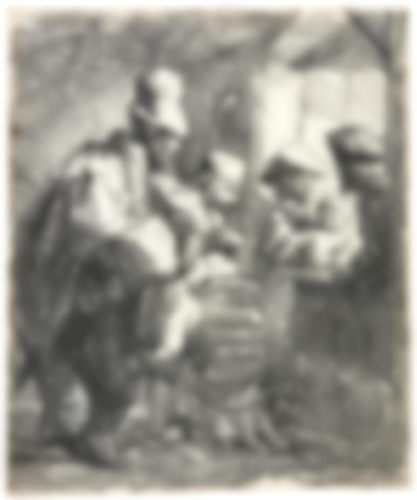 Rembrandt van Rijn-The Strolling Musicians (B., Holl. 119; New Holl. 141; H. 142)-1635